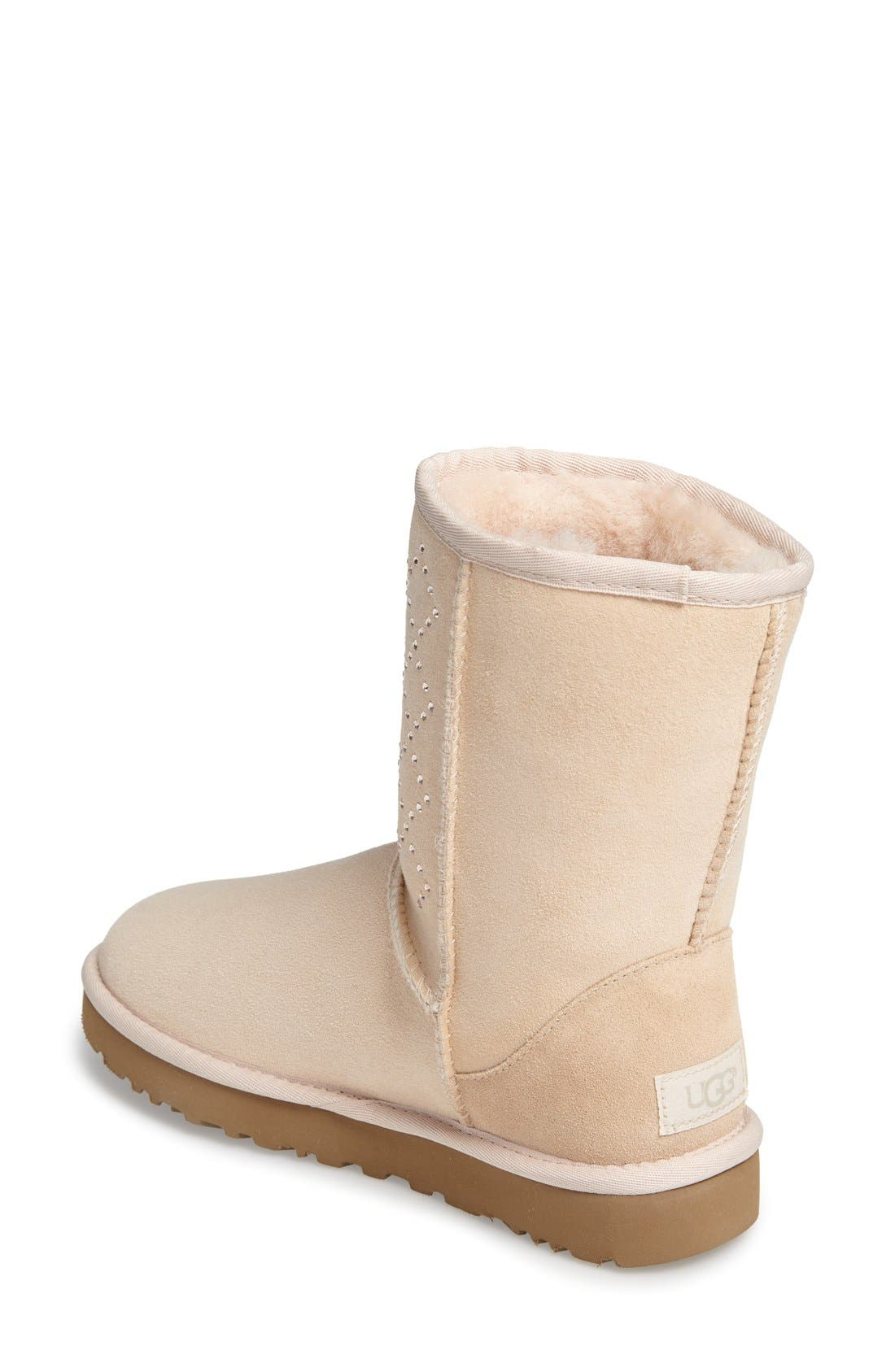 Alternate Image 2  - UGG® Classic Short - Crystal Genuine Shearling Lined Boot (Women)