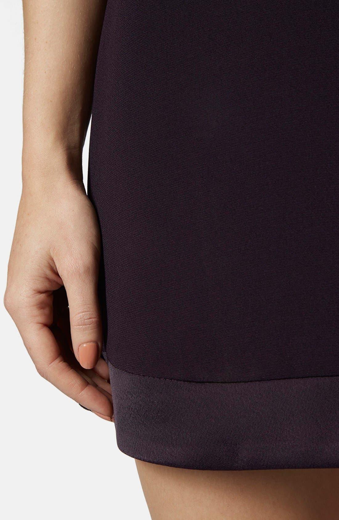 Alternate Image 4  - Topshop Satin Trim Overlay Dress