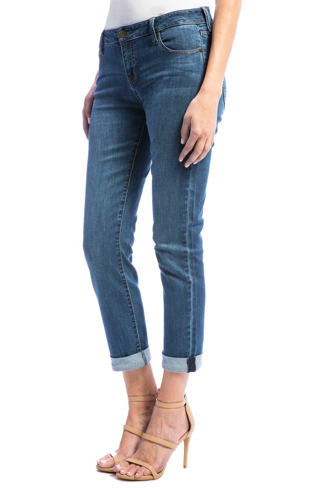 Alternate Image 3  - Liverpool Jeans Company Peyton Slim Stretch Crop Boyfriend Jeans (Super Bleach Out)