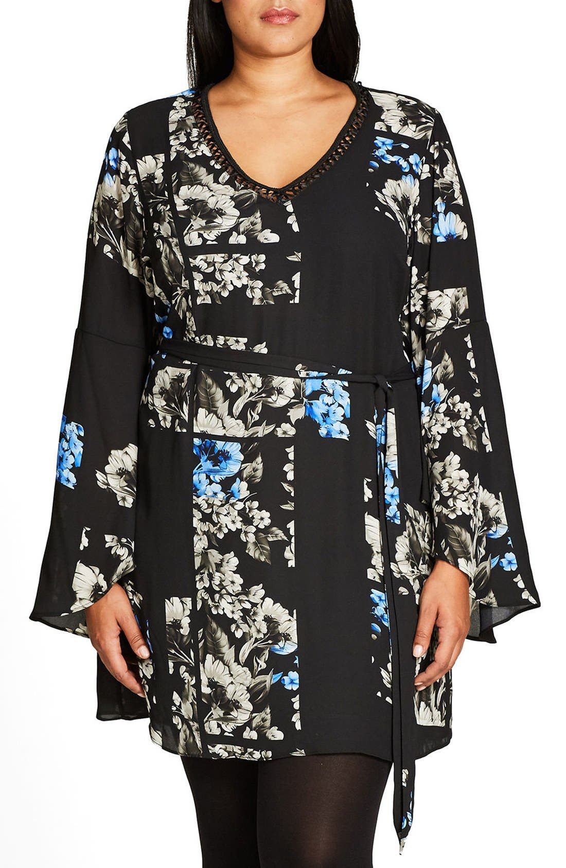 Main Image - City Chic So Decadent Tie Waist Tunic (Plus Size)