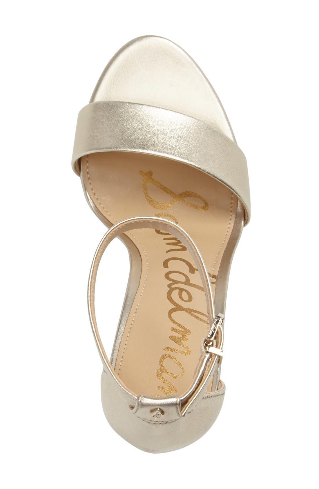 Yaro Ankle Strap Sandal,                             Alternate thumbnail 3, color,                             Jute Leather