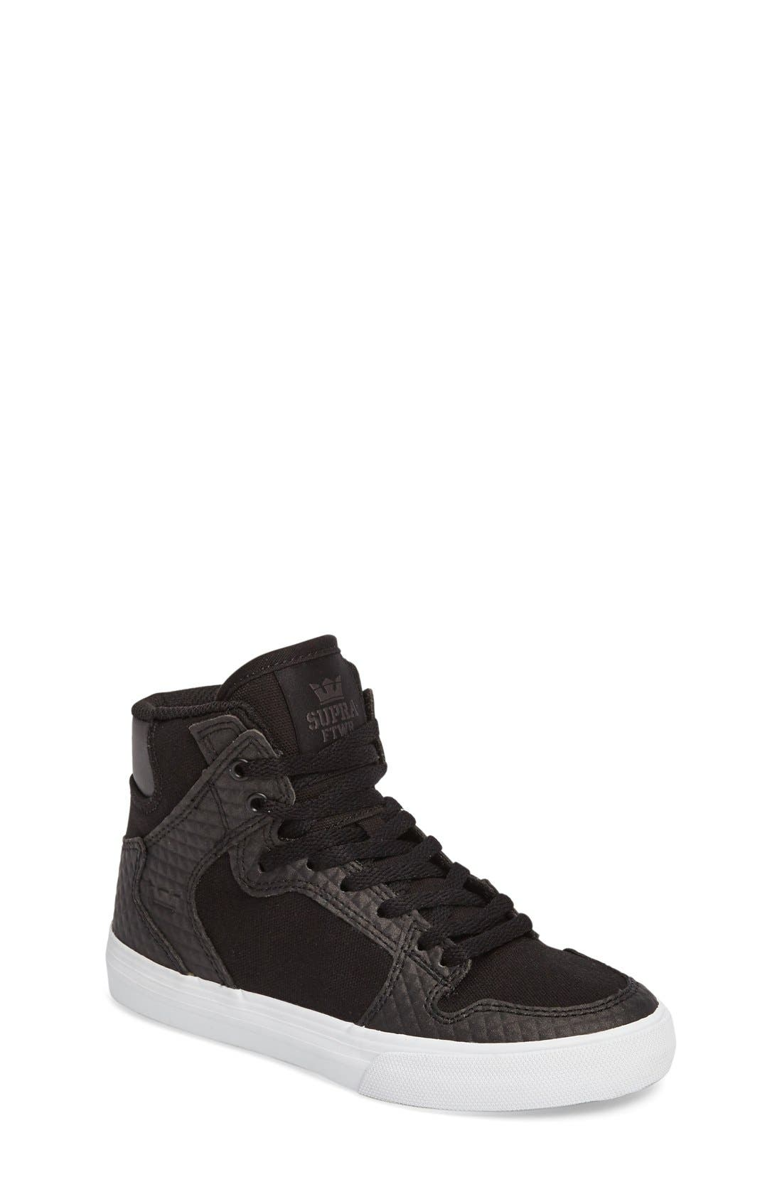 Supra 'Vaider' High Top Sneaker (Walker, Toddler, Little Kid & Big Kid)