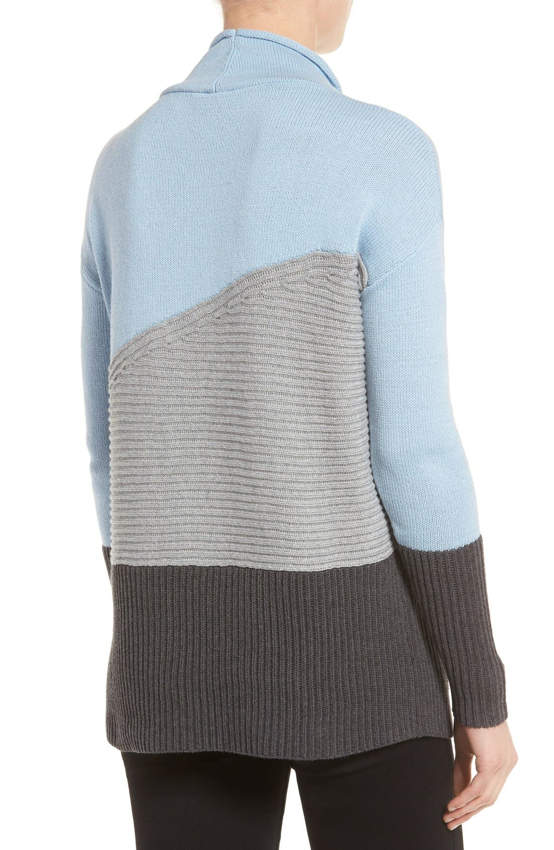 Alternate Image 2  - Vince Camuto Colorblock Turtleneck Sweater (Regular & Petite)
