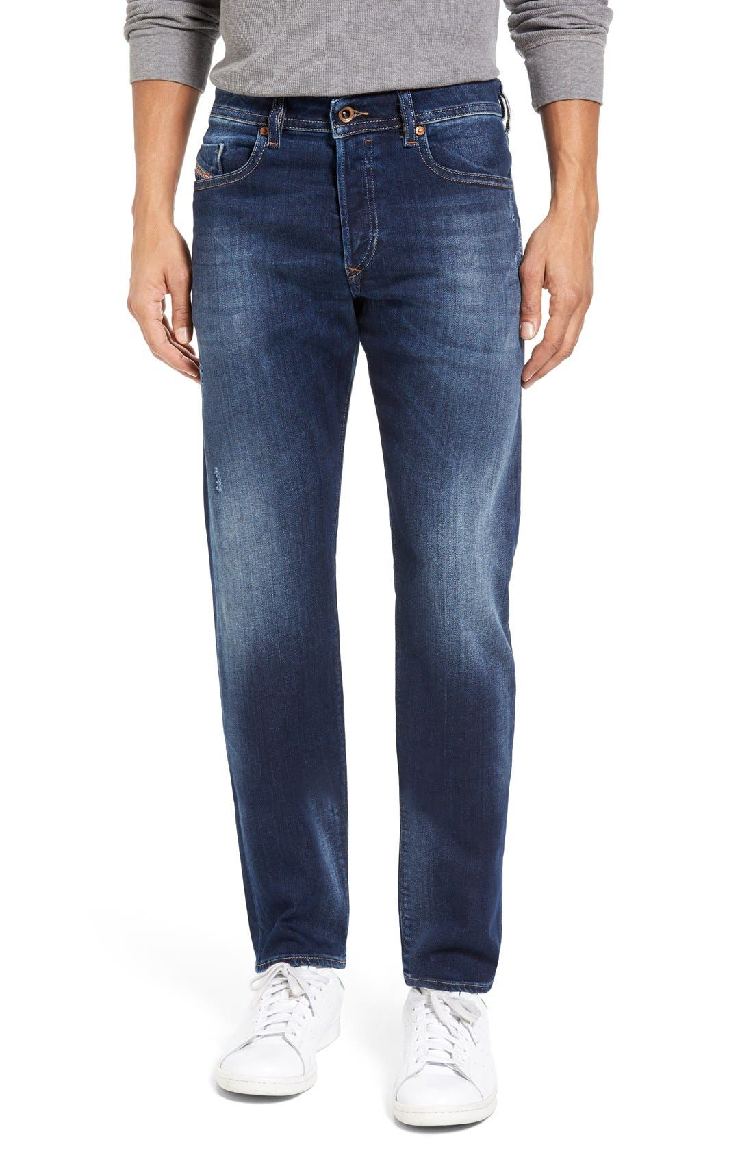 Buster Slim Straight Leg Jeans,                         Main,                         color, 860L