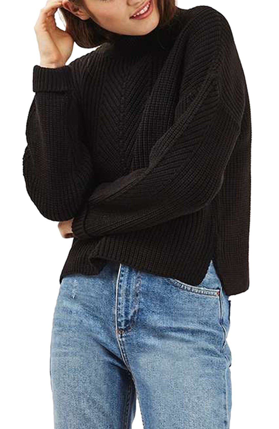 Main Image - Topshop Ribbed Sweater
