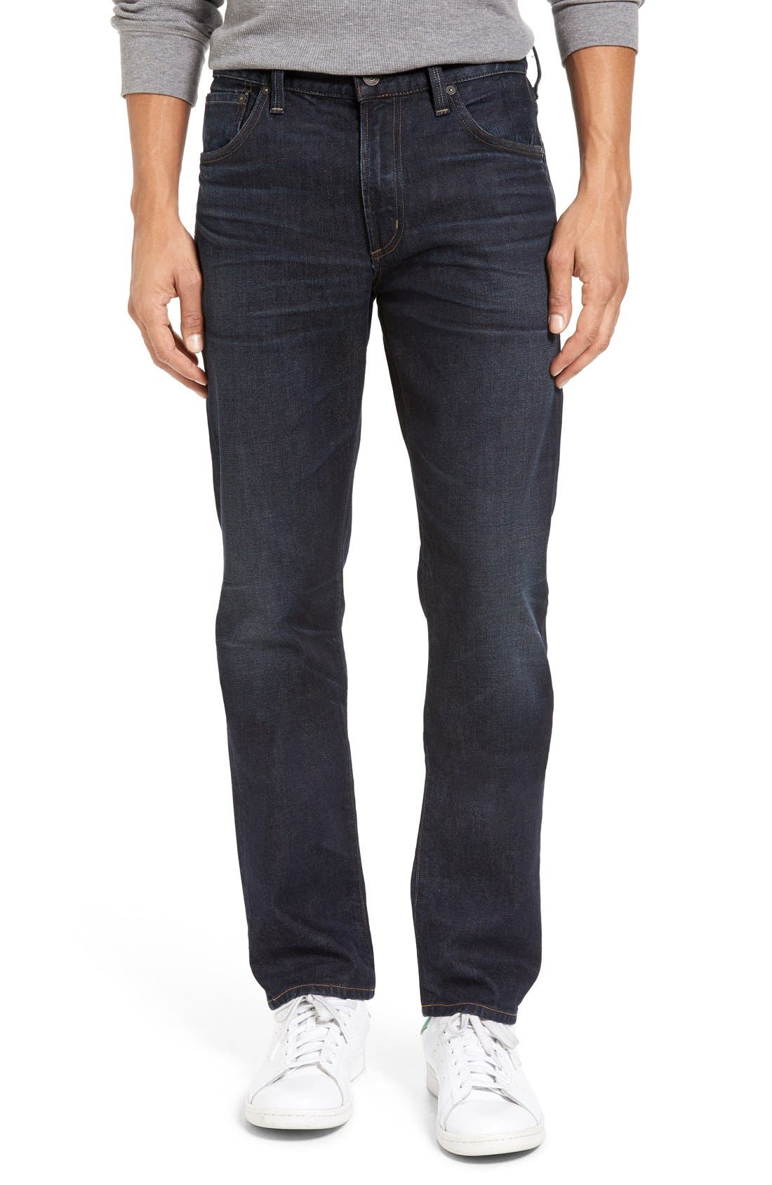 Citizens of Humanity Gage Slim Straight Leg Jeans (Hayes Dark Blue)