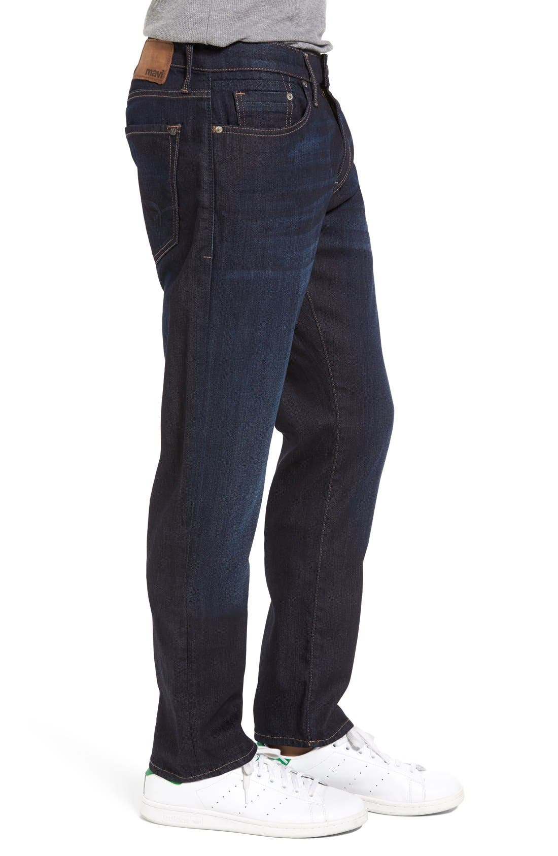 Marcus Slim Straight Leg Jeans,                             Alternate thumbnail 3, color,                             Rinse Brushed Williamsburg