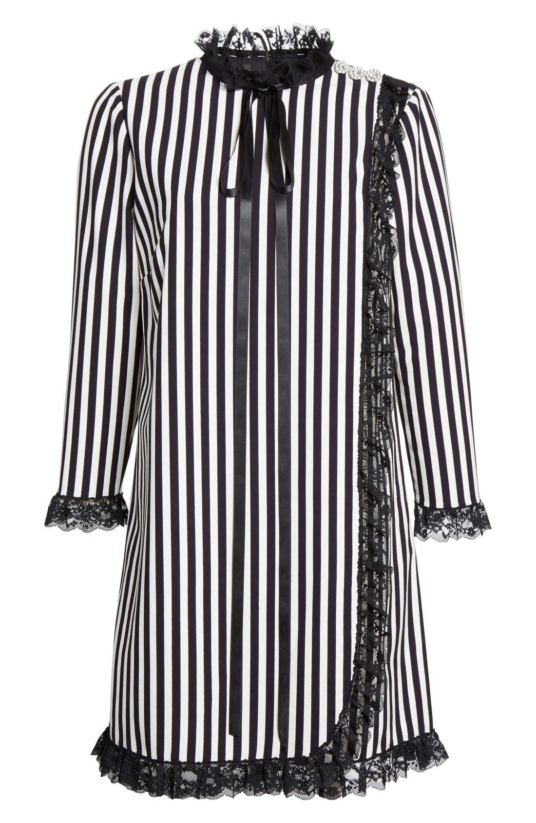 Alternate Image 4  - MARC JACOBS Stripe Crepe Babydoll Dress