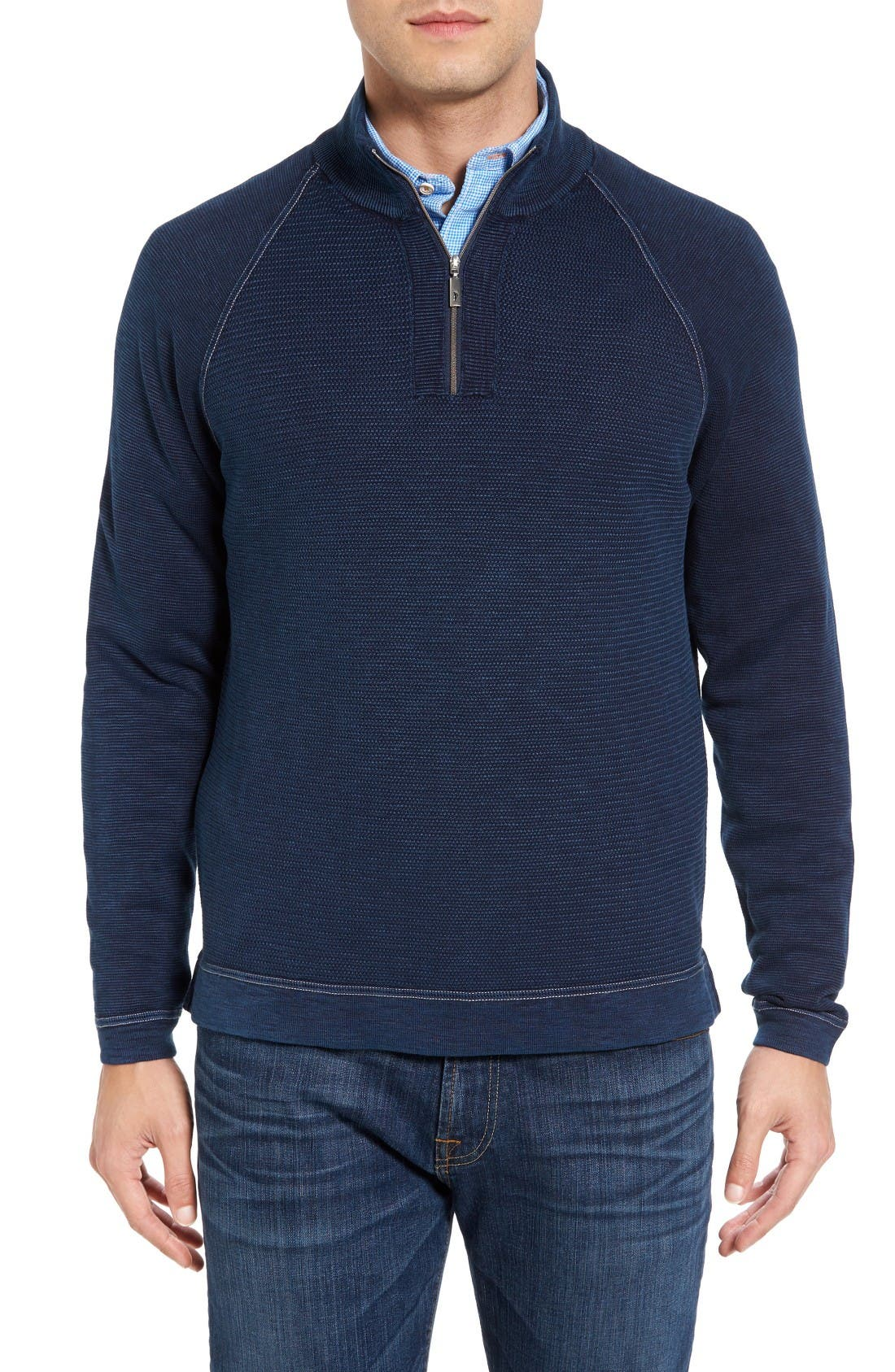 Main Image - Tommy Bahama Saltwater Tide Half Zip Pullover