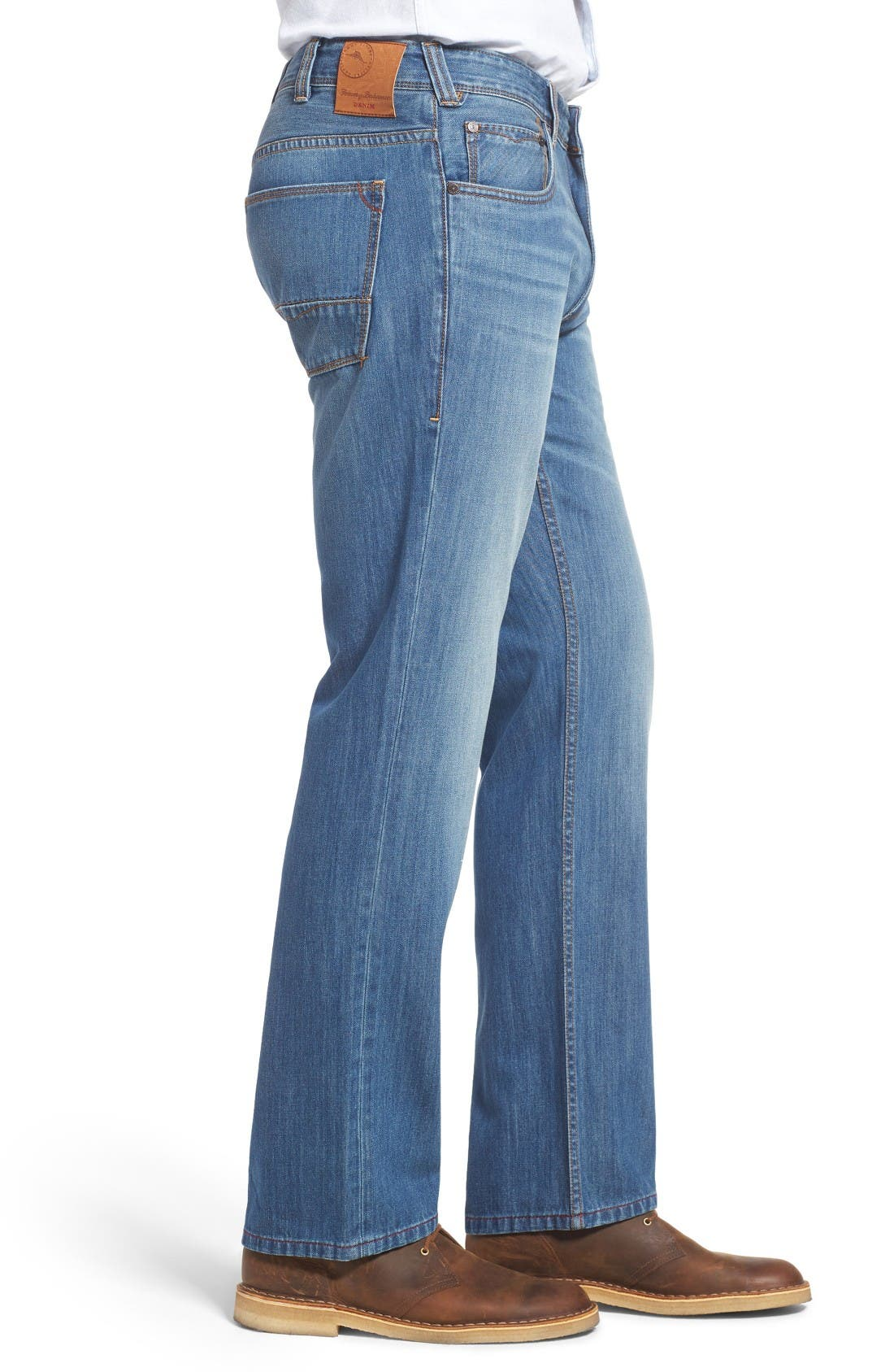 Barbados Straight Leg Jeans,                             Alternate thumbnail 3, color,                             Light Indigo Wash
