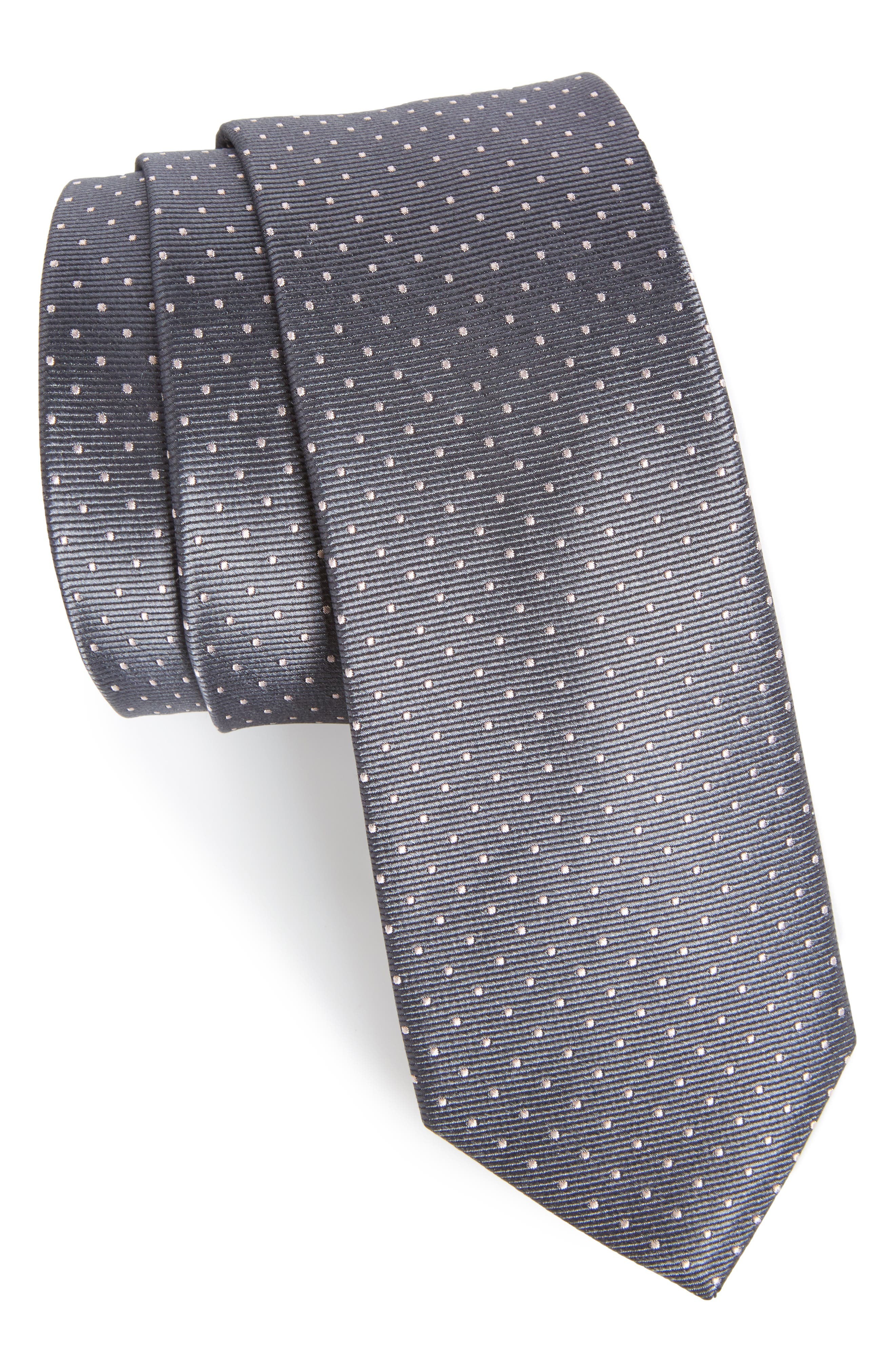The Tie Bar Dot Silk Tie