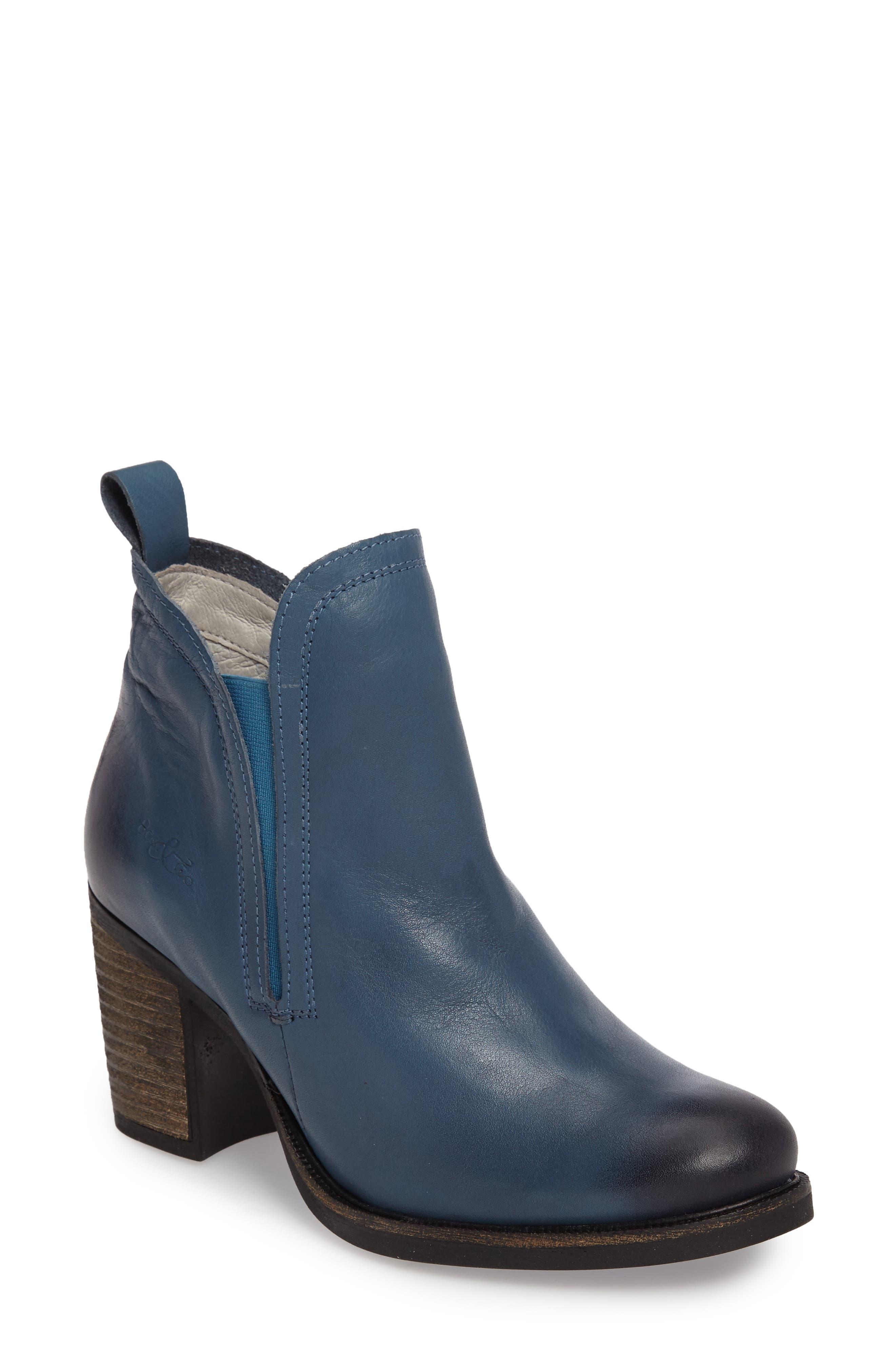 Belfielding Waterproof Chelsea Boot,                             Main thumbnail 1, color,                             Jeans/ Black Leather