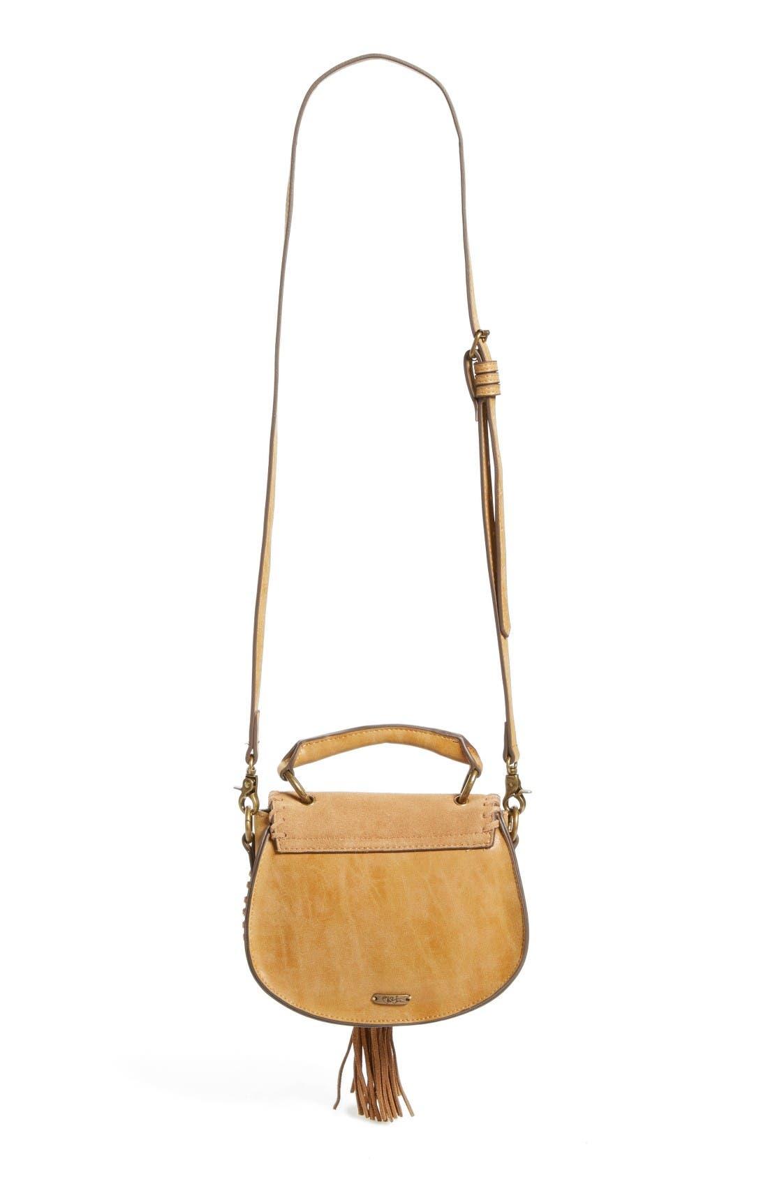 Alternate Image 2  - Elle & Jae Gypset Mini Madrid Faux Leather Top Handle Saddle Bag