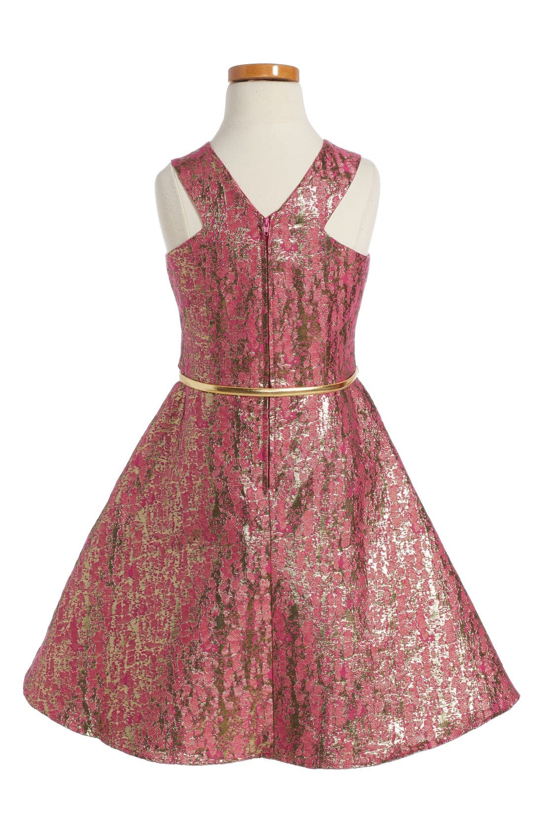 Alternate Image 2  - BLUSH by Us Angels Jacquard Fit & Flare Dress (Big Girls)