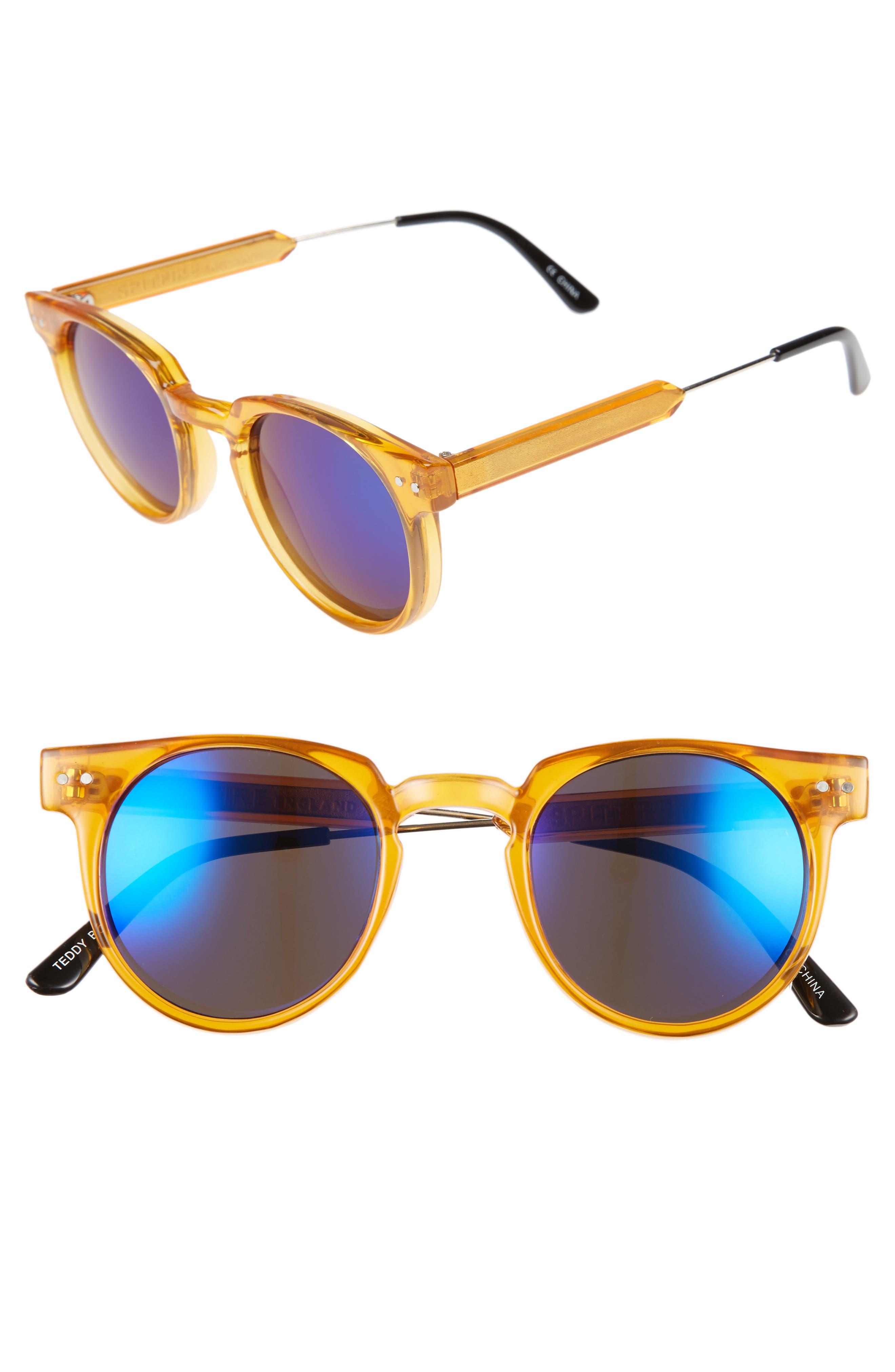46mm Optical Glasses,                         Main,                         color, Orange/ Blue Mirror