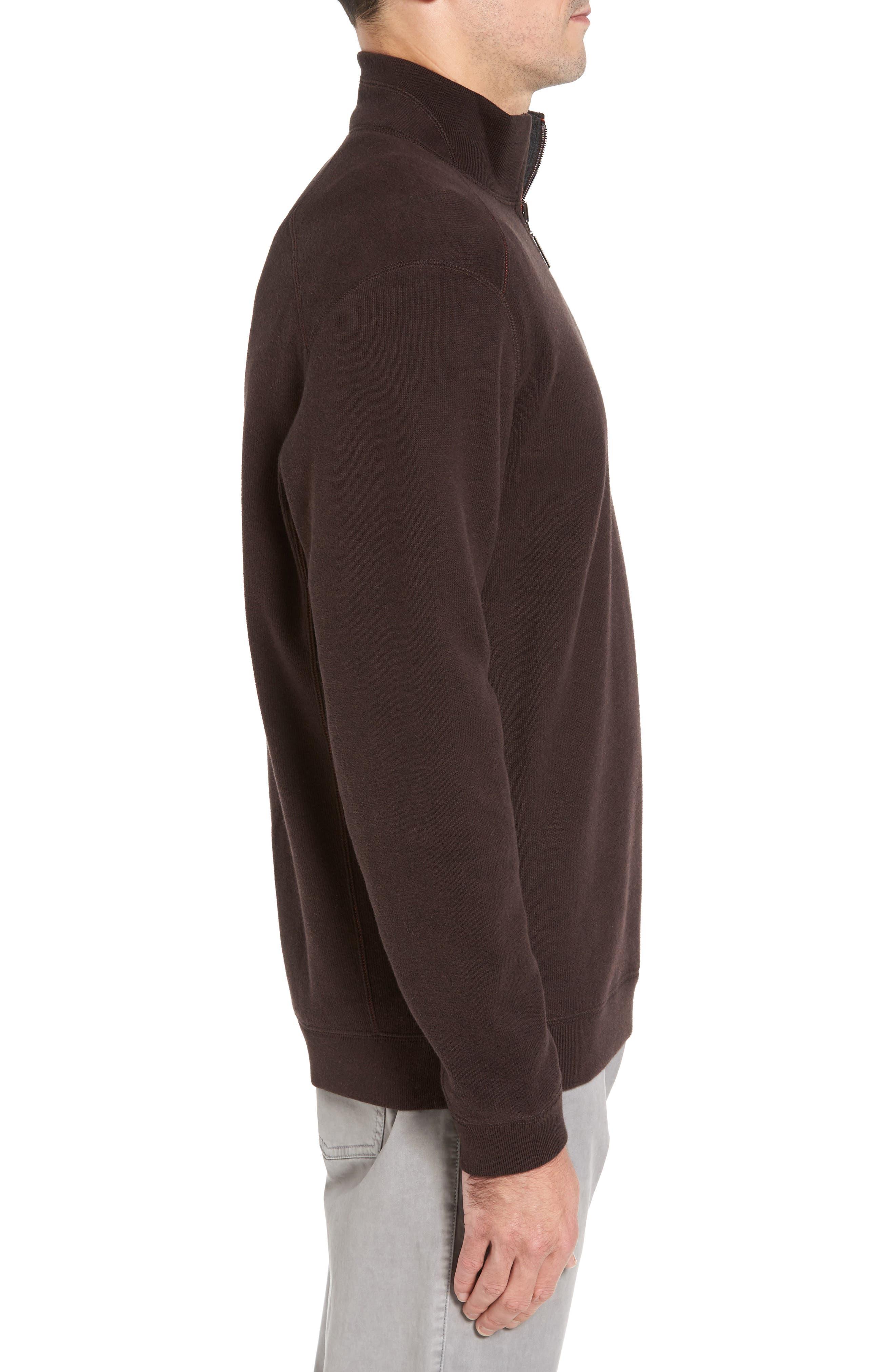 Alternate Image 3  - Tommy Bahama Flip Side Reversible Quarter Zip Twill Pullover