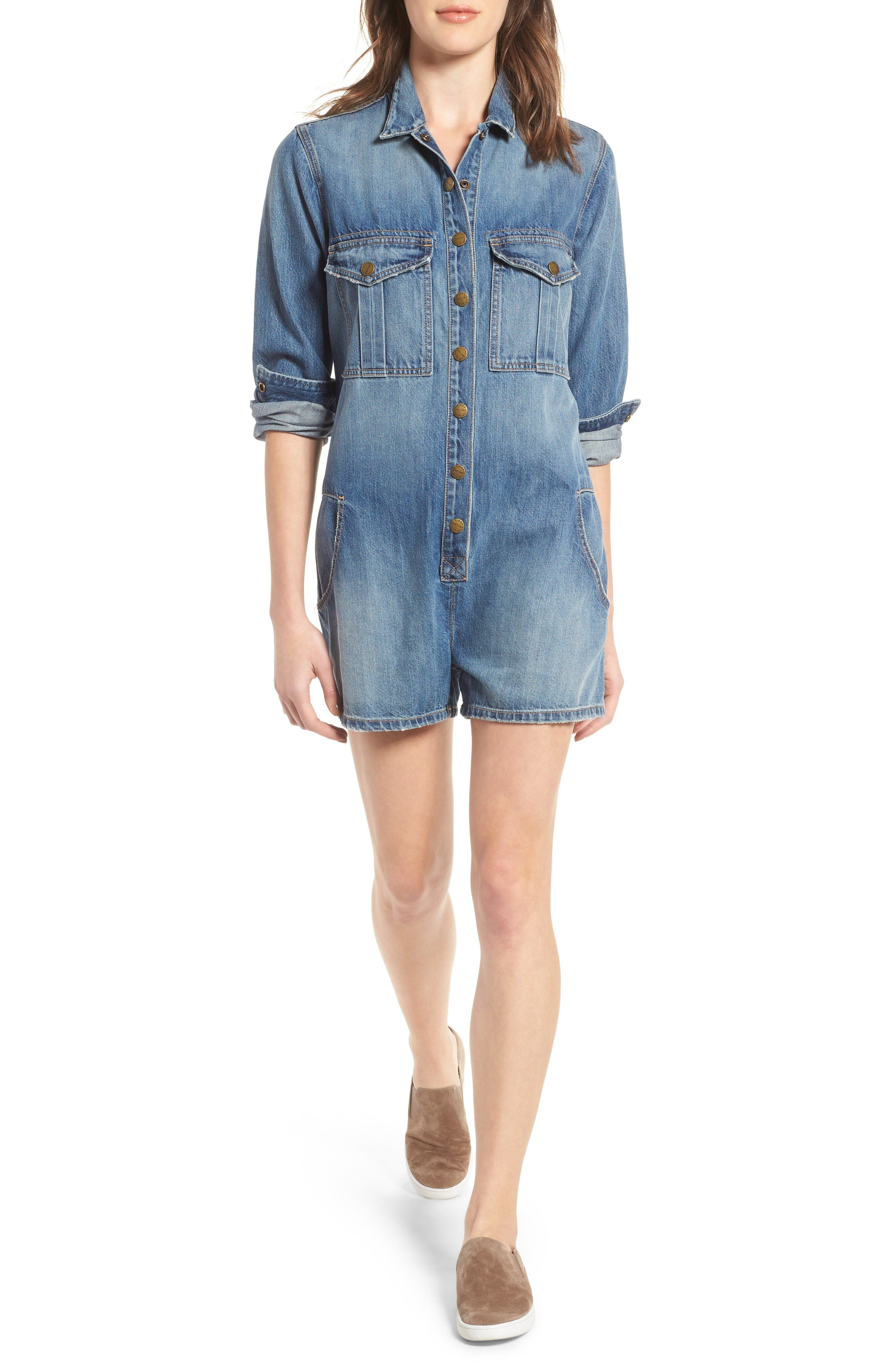 Main Image - Current/Elliott The Jamie Denim Romper