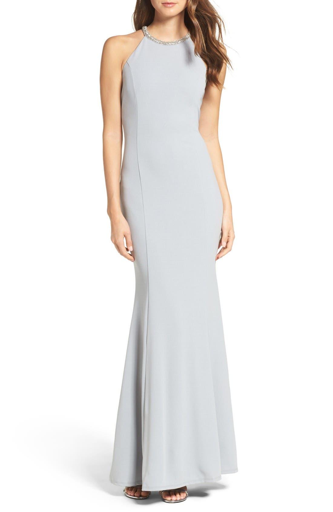 Alternate Image 1 Selected - Lulus Bead Neck Mermaid Gown