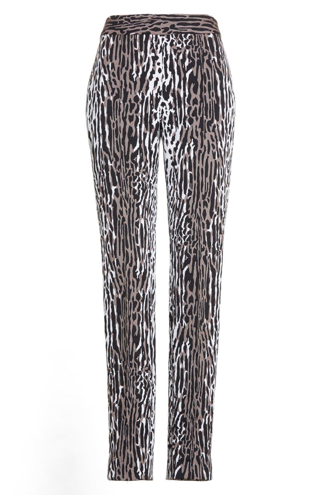 Alternate Image 4  - St. John Collection Leopard Jacquard Ankle Pants