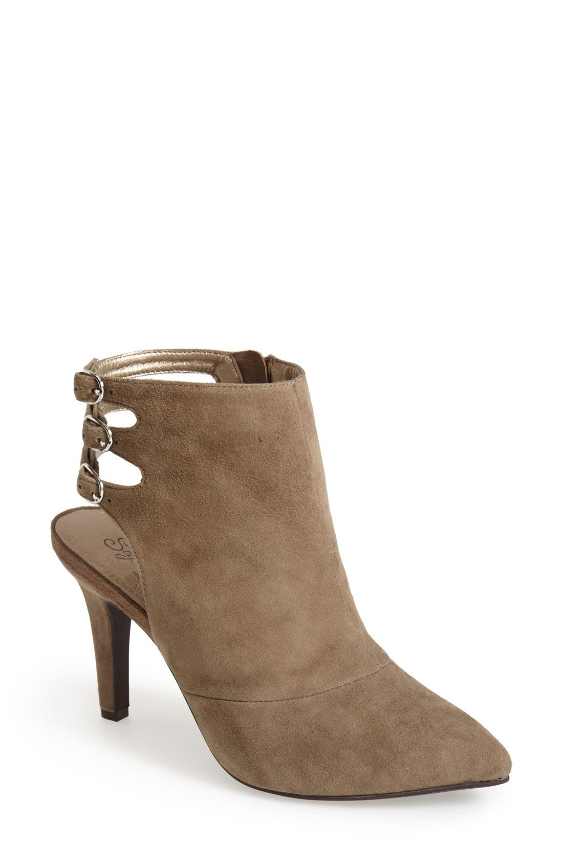 Alternate Image 1 Selected - Seychelles 'Expert' Pointy Toe Suede Bootie (Women)
