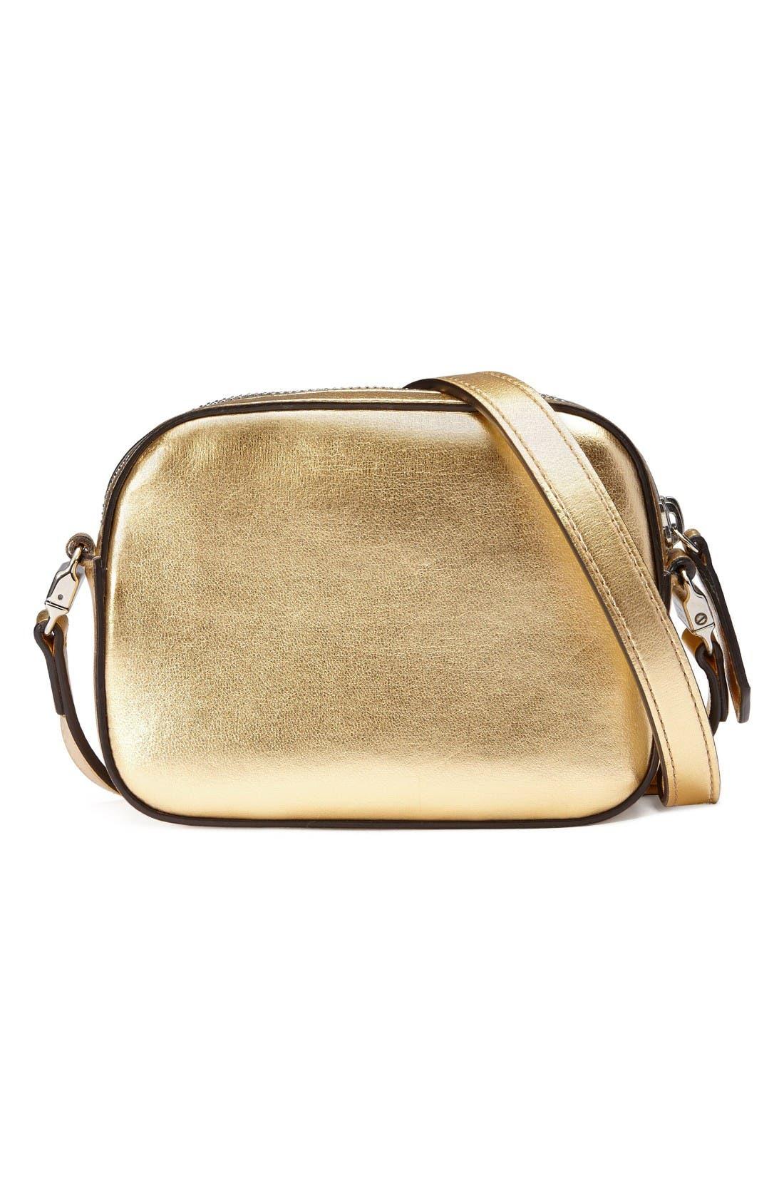 Alternate Image 2  - Gucci Leather Messenger Bag (Big Girls)