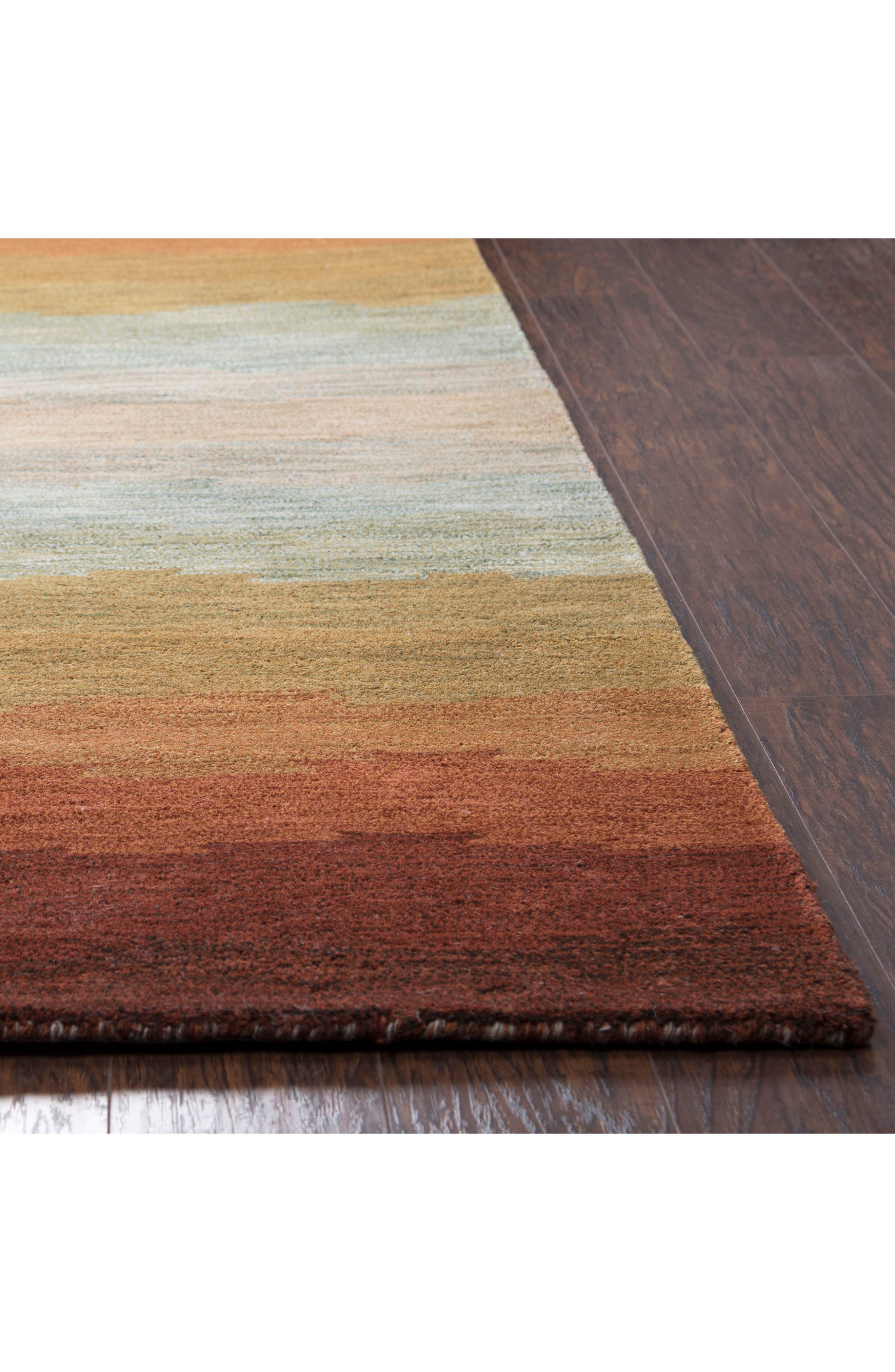Desert Oasis Hand Tufted Wool Area Rug,                             Alternate thumbnail 3, color,                             Rust