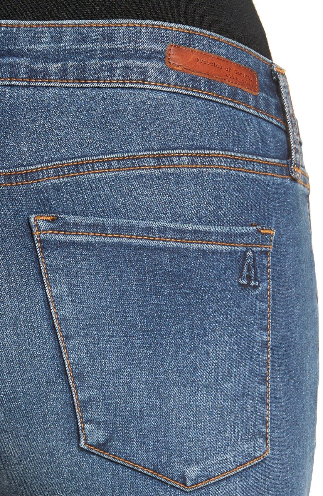 Alternate Image 5  - Articles of Society Sarah Skinny Jeans (Bancroft)
