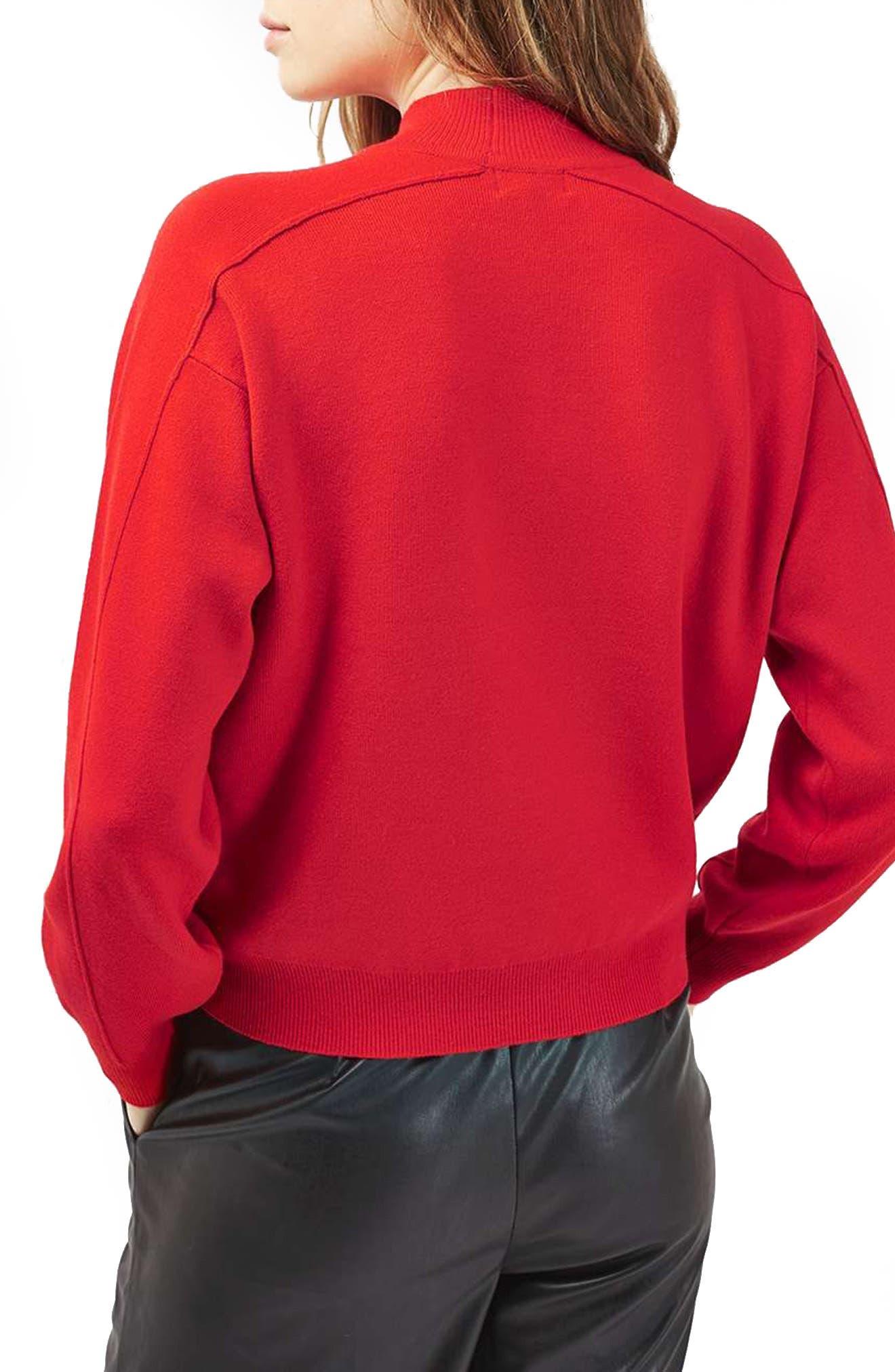 Alternate Image 3  - Topshop Mock Neck Sweater