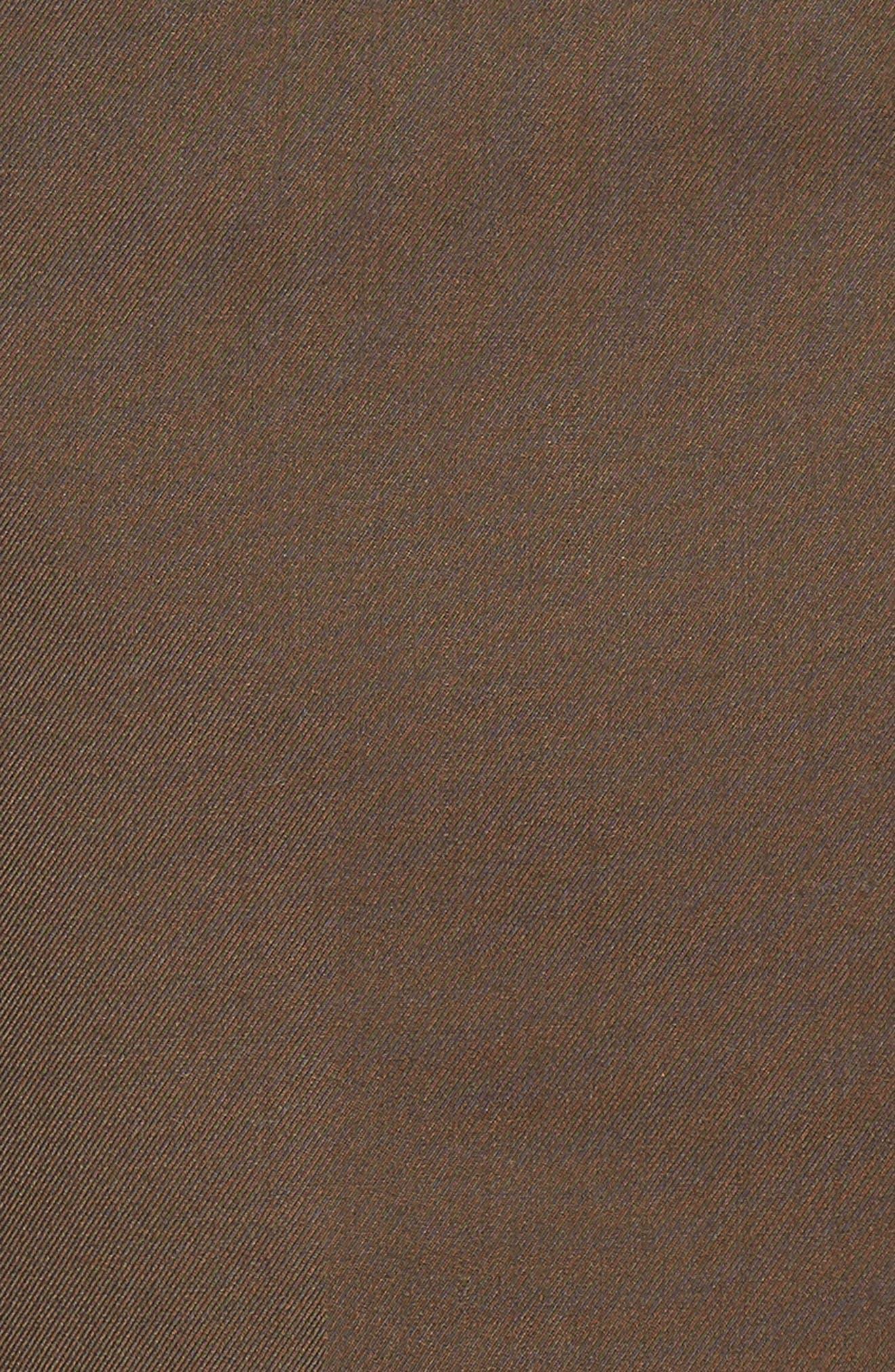 'Travel Genius - Hawk' Flat Front Pants,                             Alternate thumbnail 5, color,                             Brown