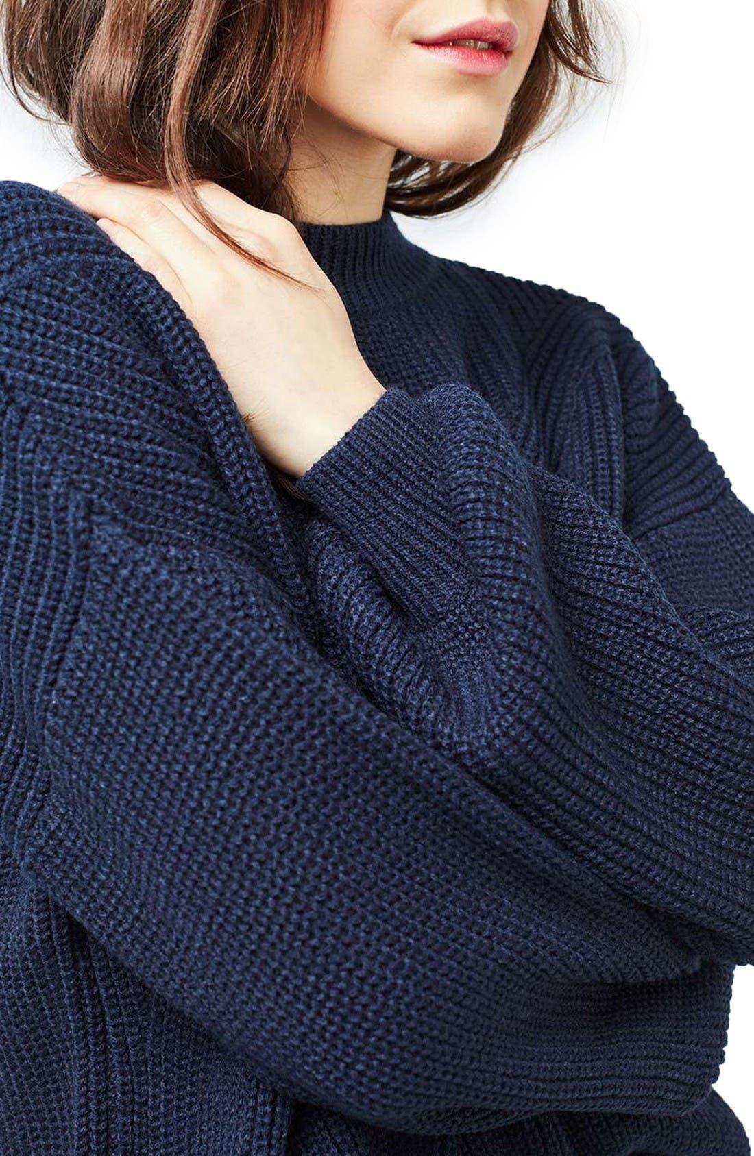 Alternate Image 5  - Topshop Blouson Sleeve Sweater