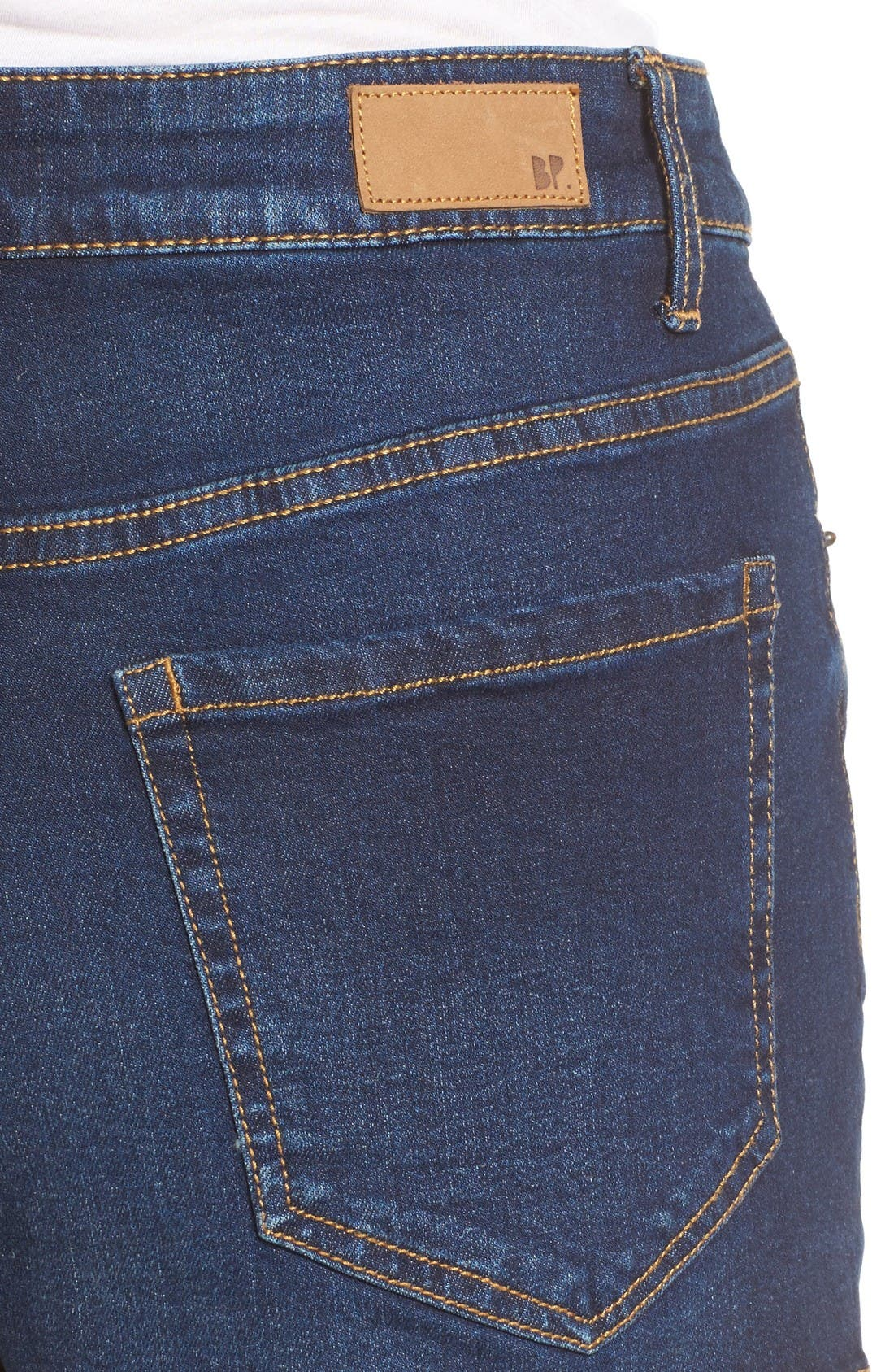 Alternate Image 4  - BP. High Rise Denim Shorts (Deep Sea Blue)