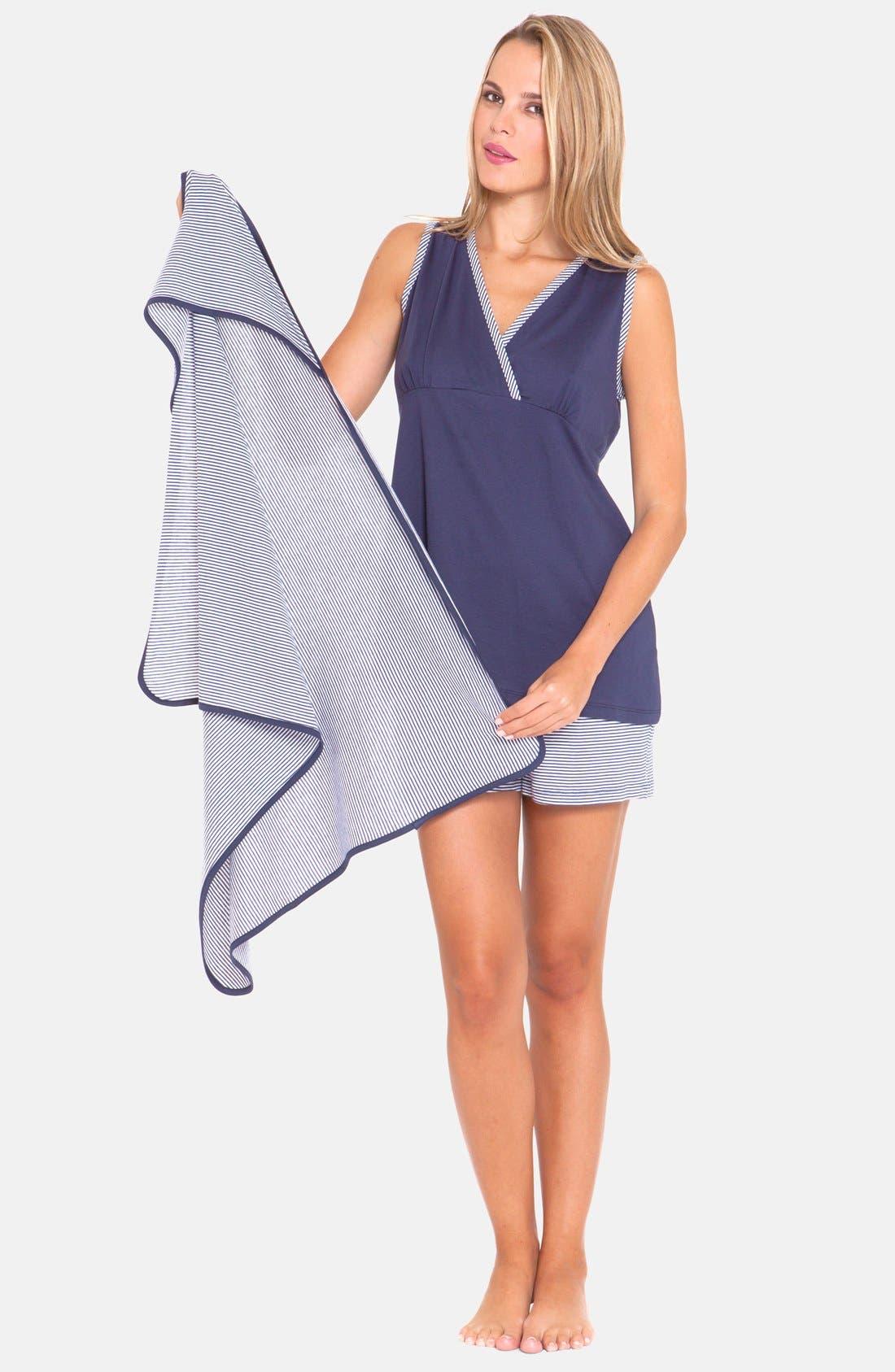 Alternate Image 1 Selected - Olian 3-Piece Maternity Sleepwear Gift Set
