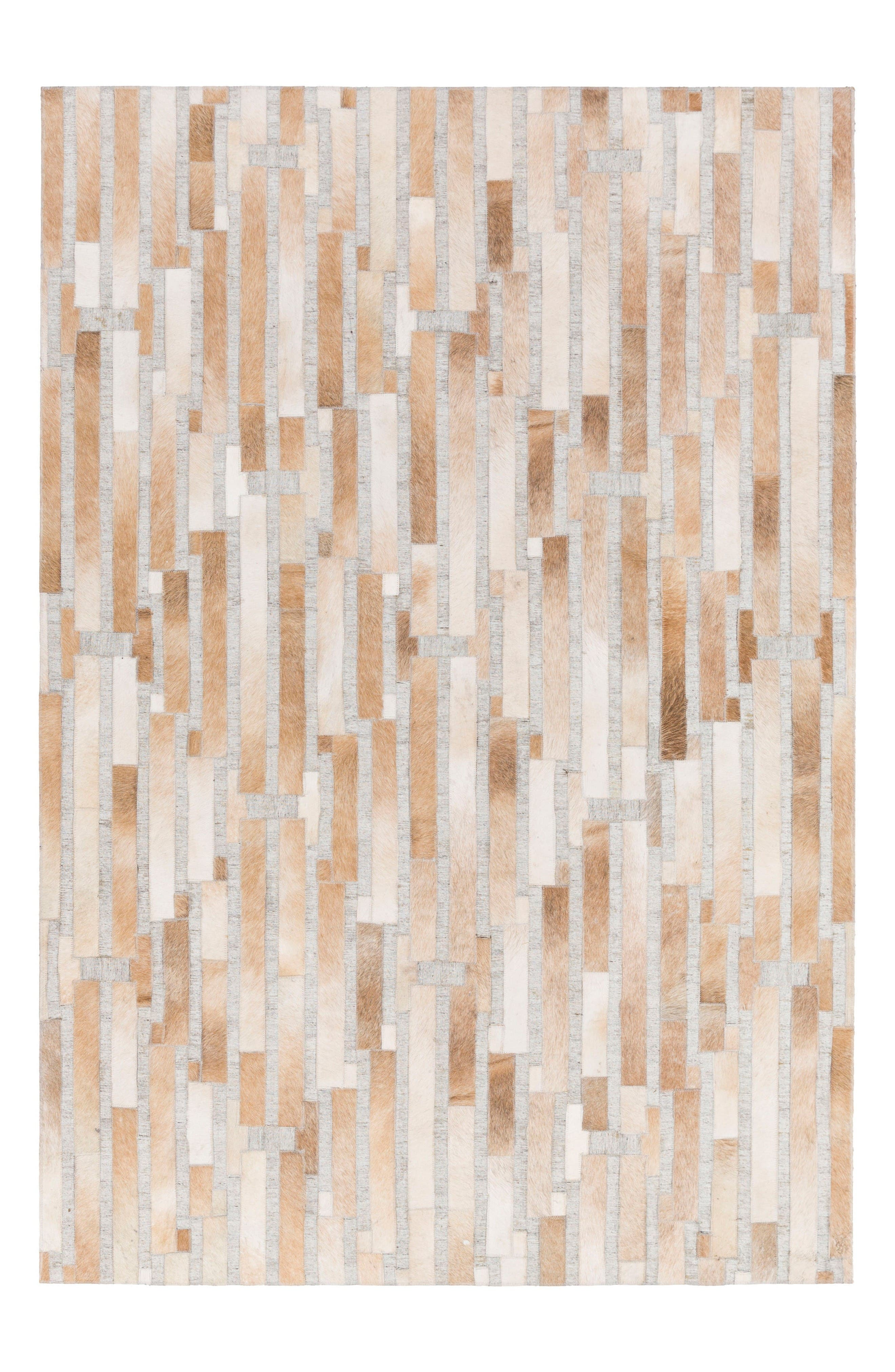 Main Image - Surya Home Medora Les Genuine Calf Hair Rug