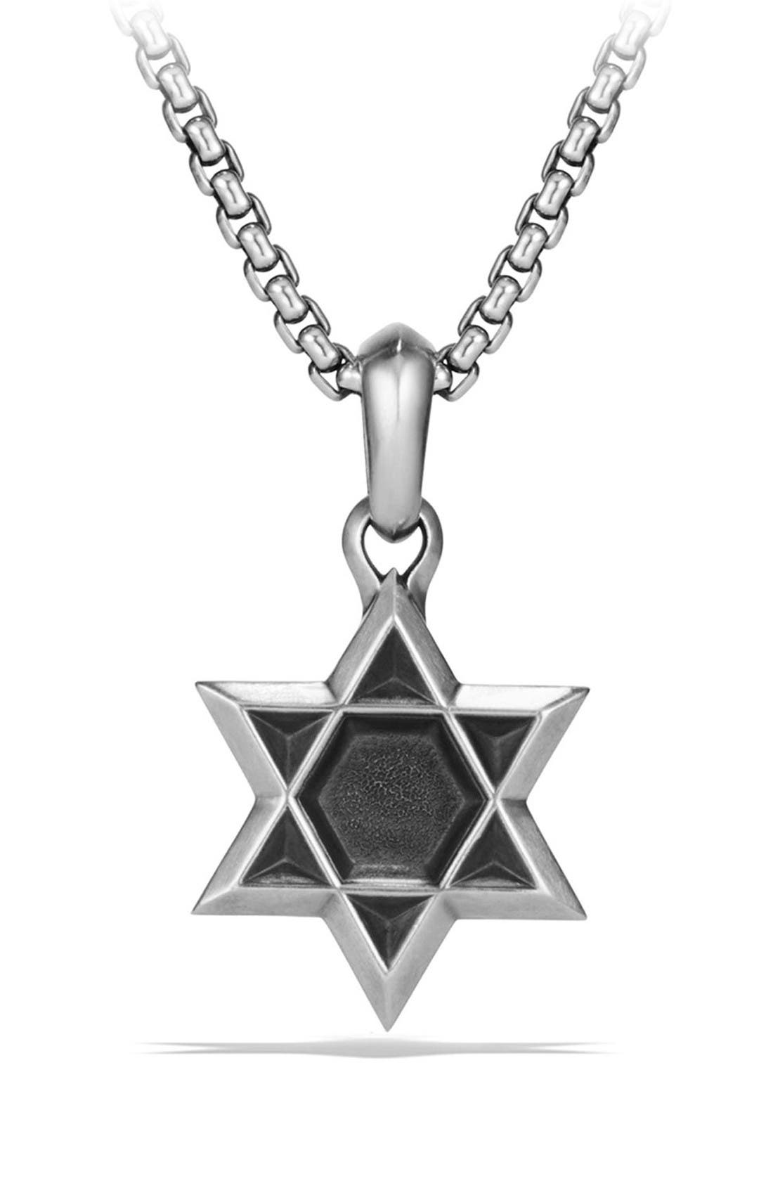 Star of David Amulet,                         Main,                         color, Silver