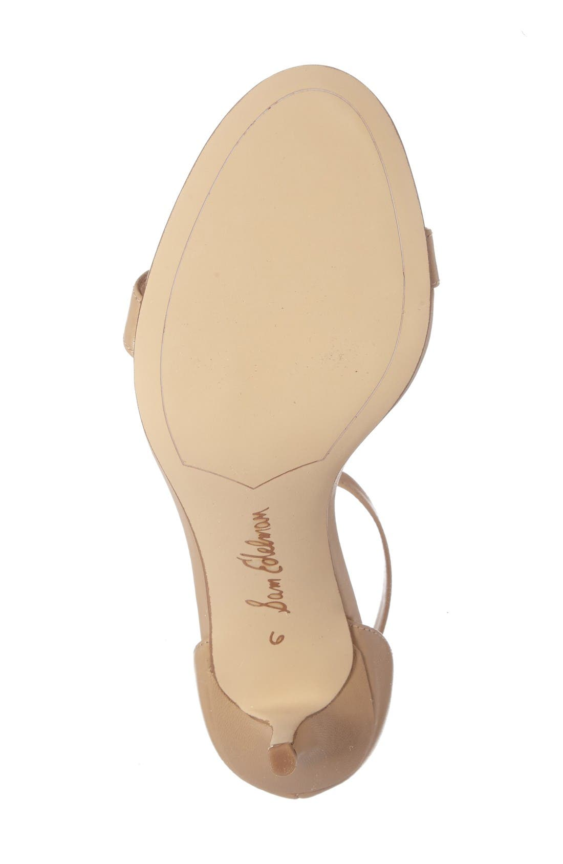 Patti Strappy Sandal,                             Alternate thumbnail 4, color,                             Classic Nude Leather