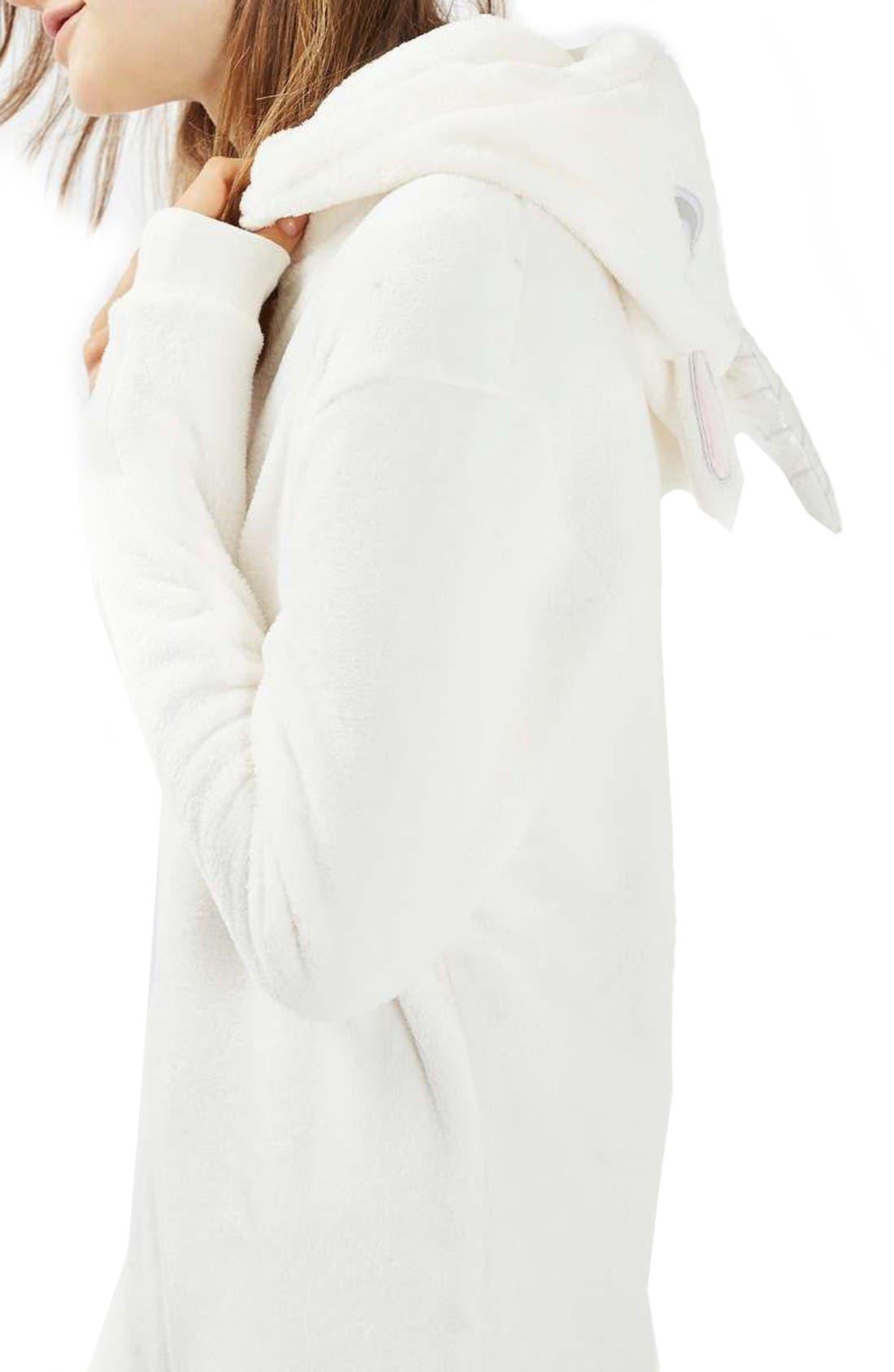 Alternate Image 3  - Topshop Unicorn One-Piece Pajamas