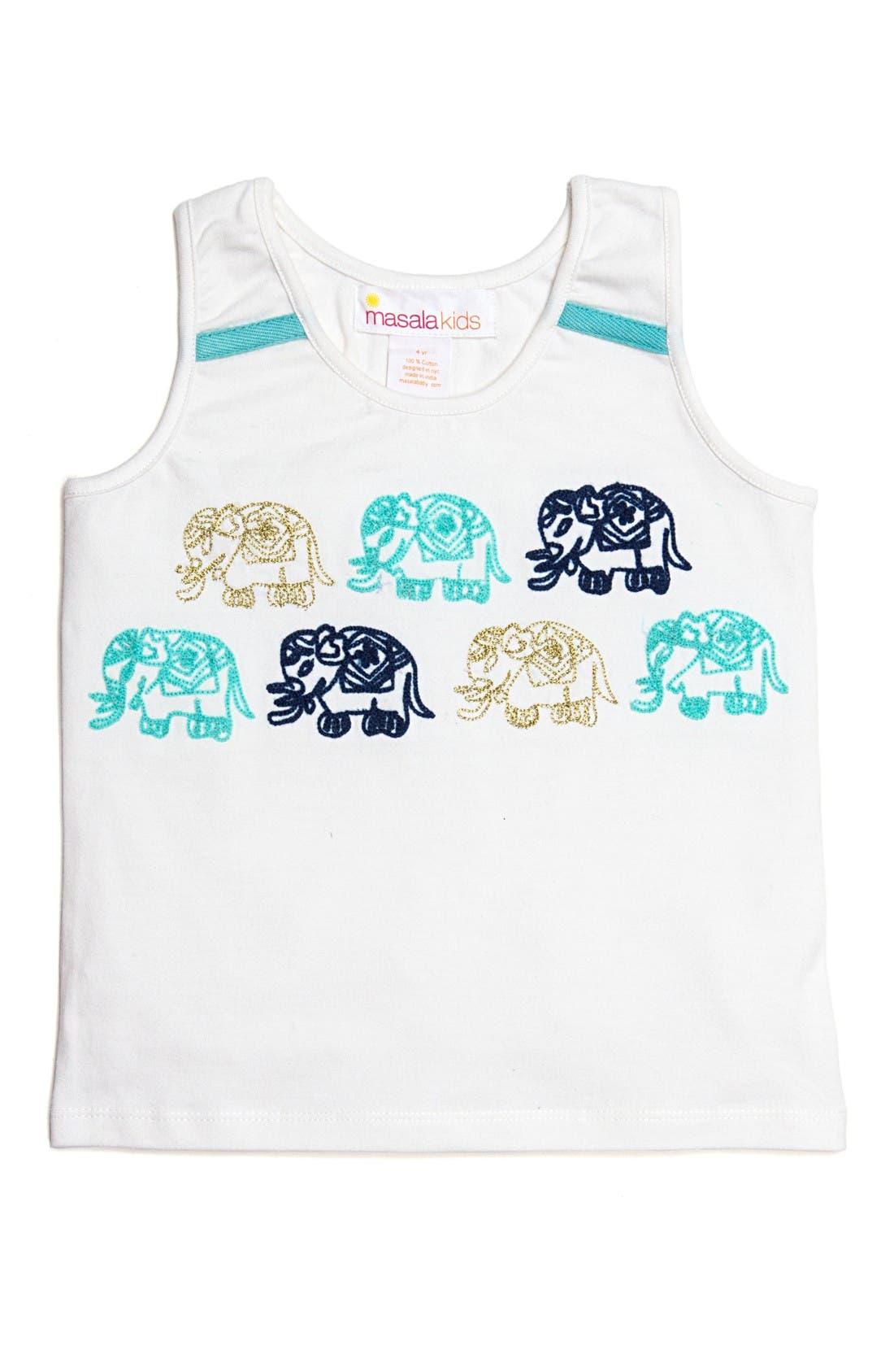 Masalababy Gajah Graphic Tank (Toddler Girls, Little Girls & Big Girls)