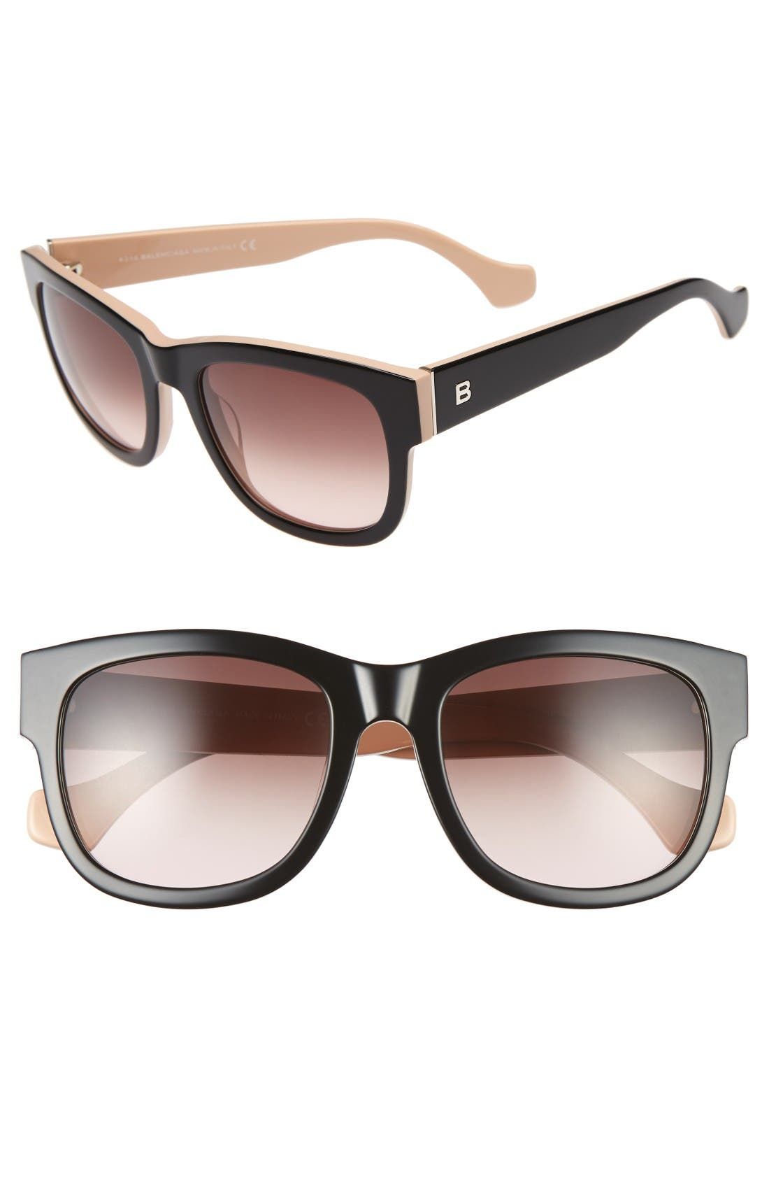 Alternate Image 1 Selected - Balenciaga 54mm Retro Sunglasses