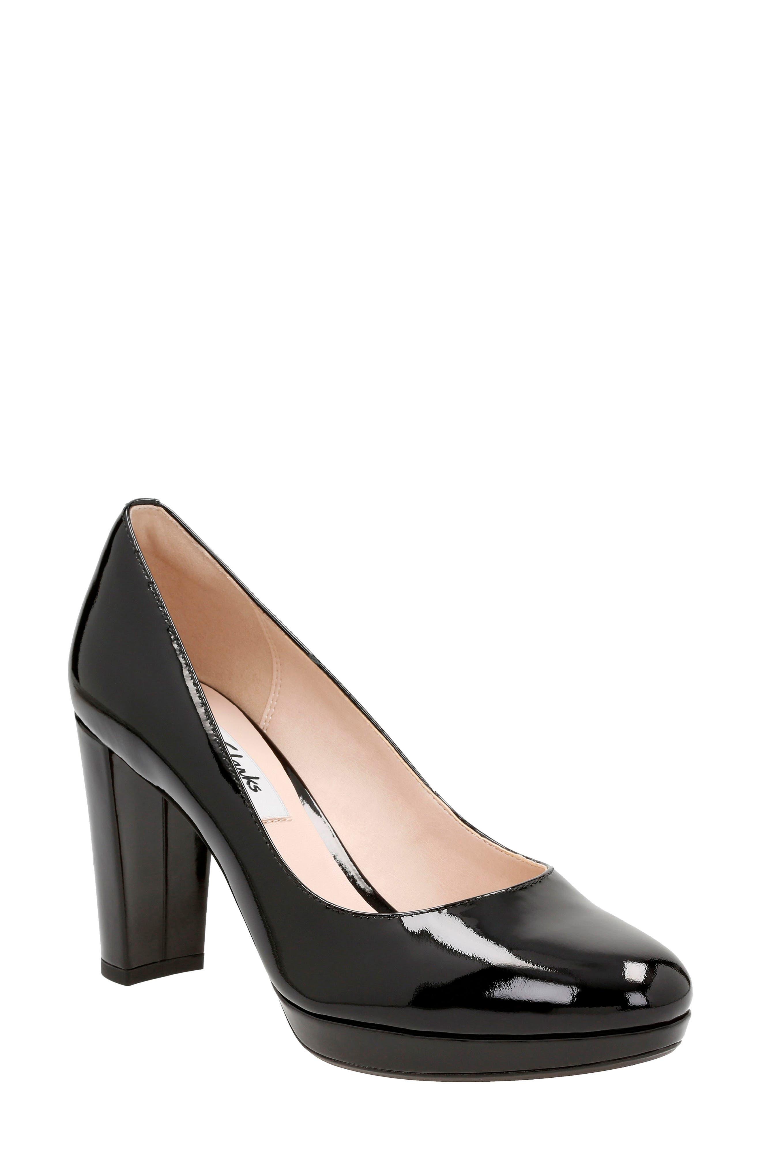 Alternate Image 1 Selected - Clarks® Kendra Sienna Almond Toe Pump (Women)