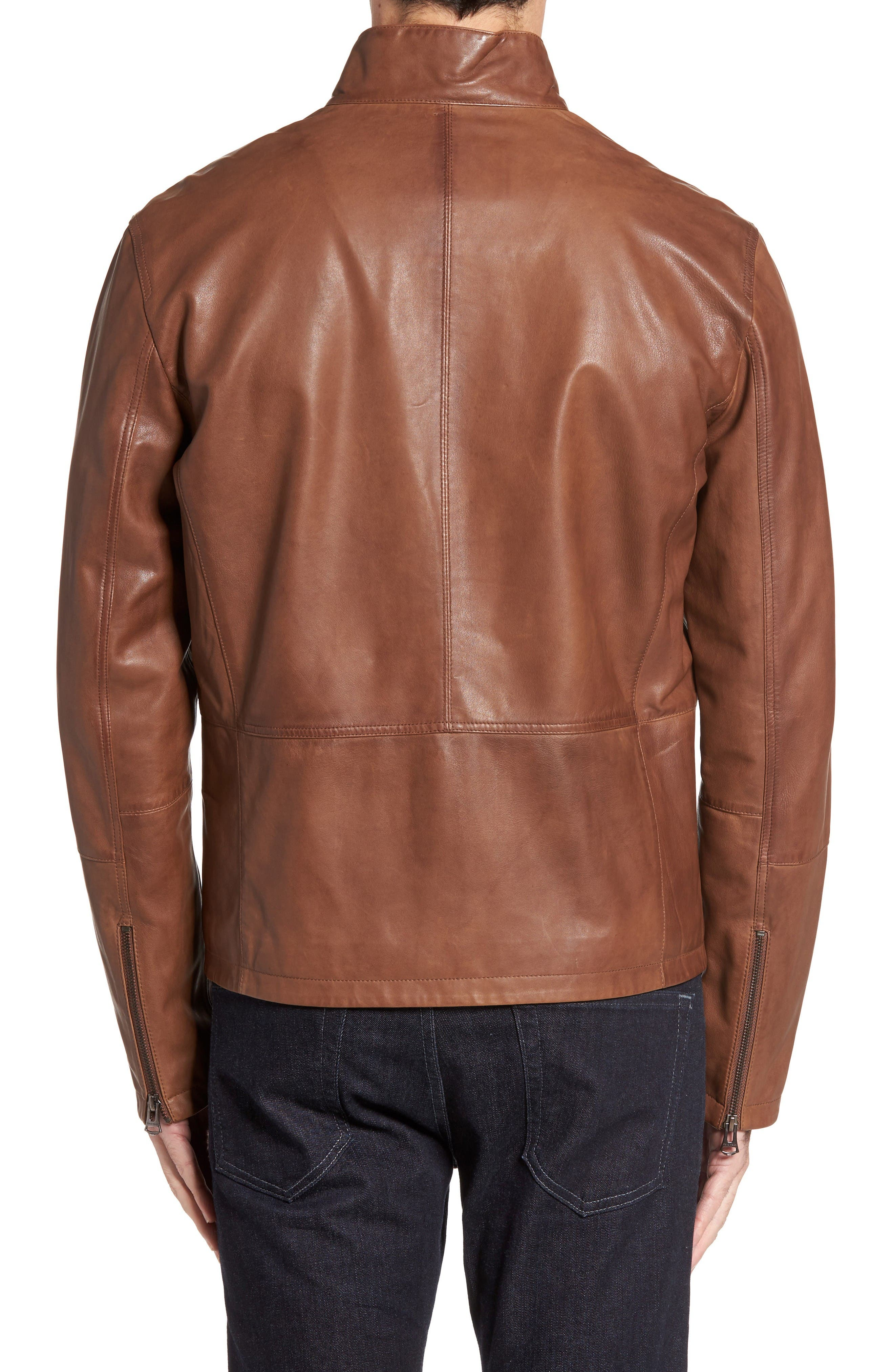 Alternate Image 2  - Cole Haan Lamb Leather Jacket
