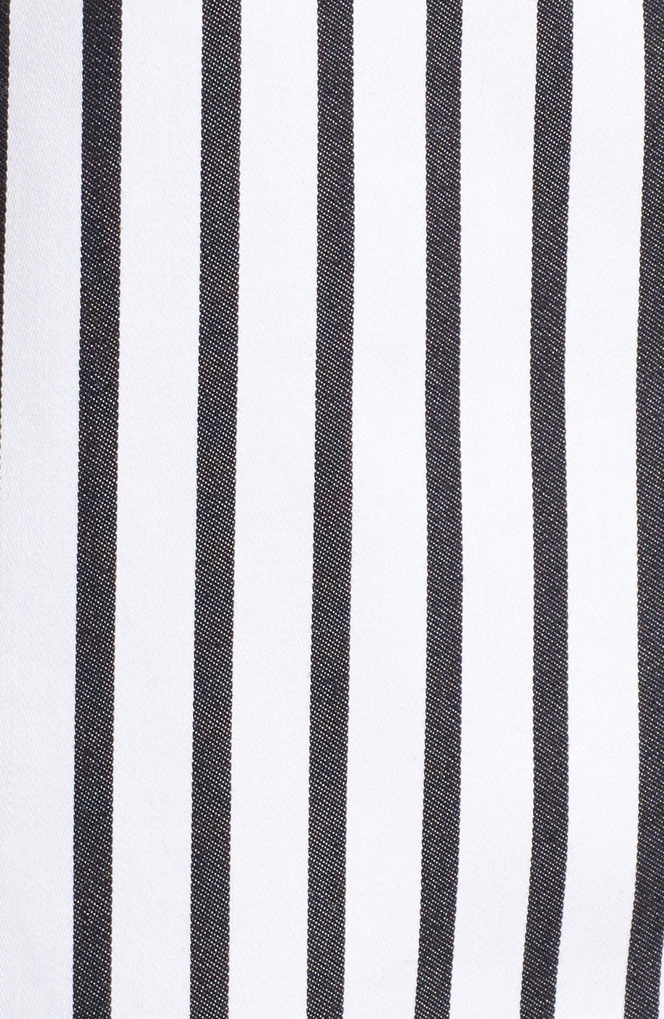 Alternate Image 5  - Foxcroft Gigi Non-Iron Stripe Sateen Tunic Shirt