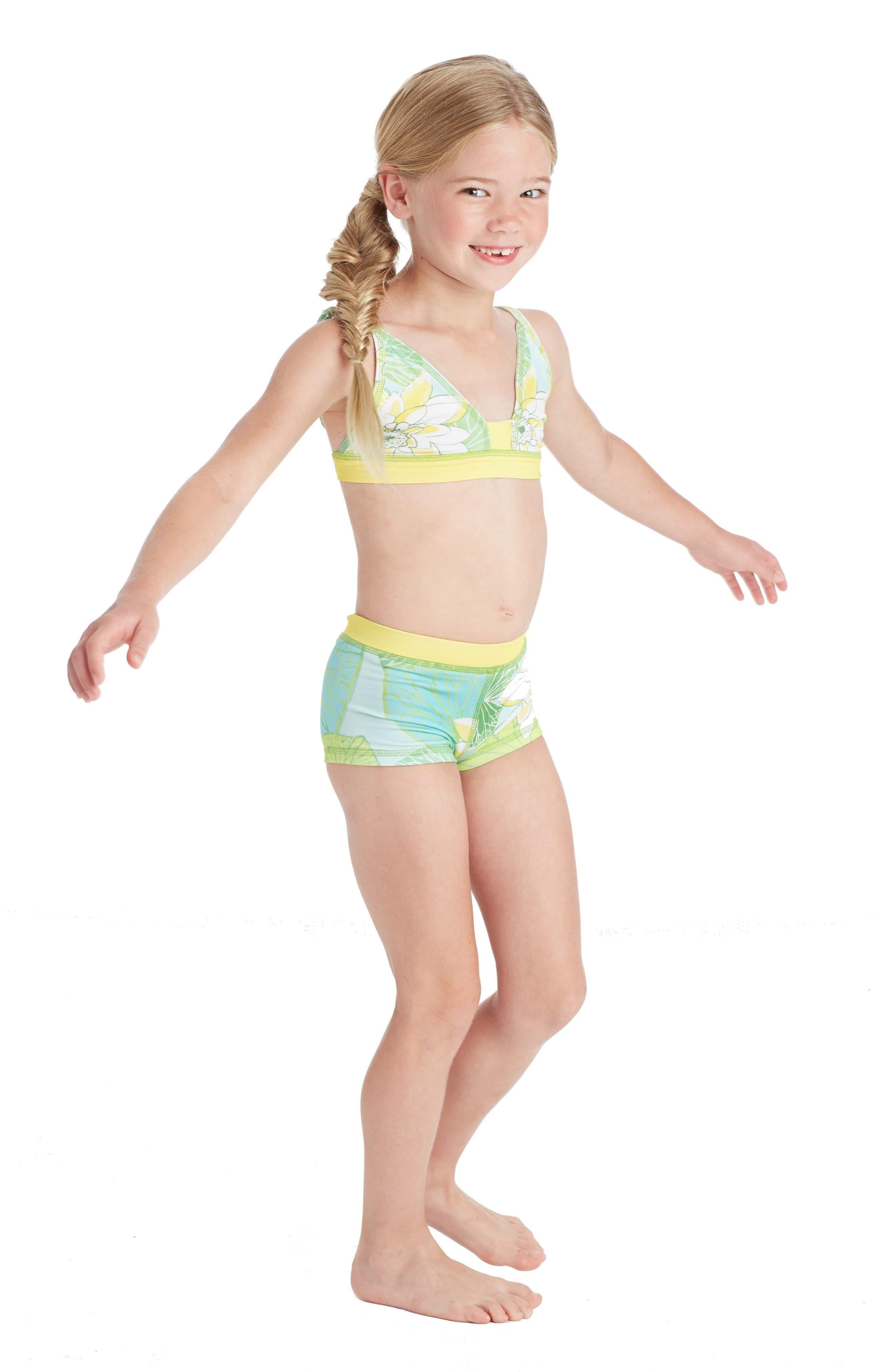 Alternate Image 2  - Masasla Baby Two-Piece Swimsuit (Toddler Girls, Little Girls & Big Girls)