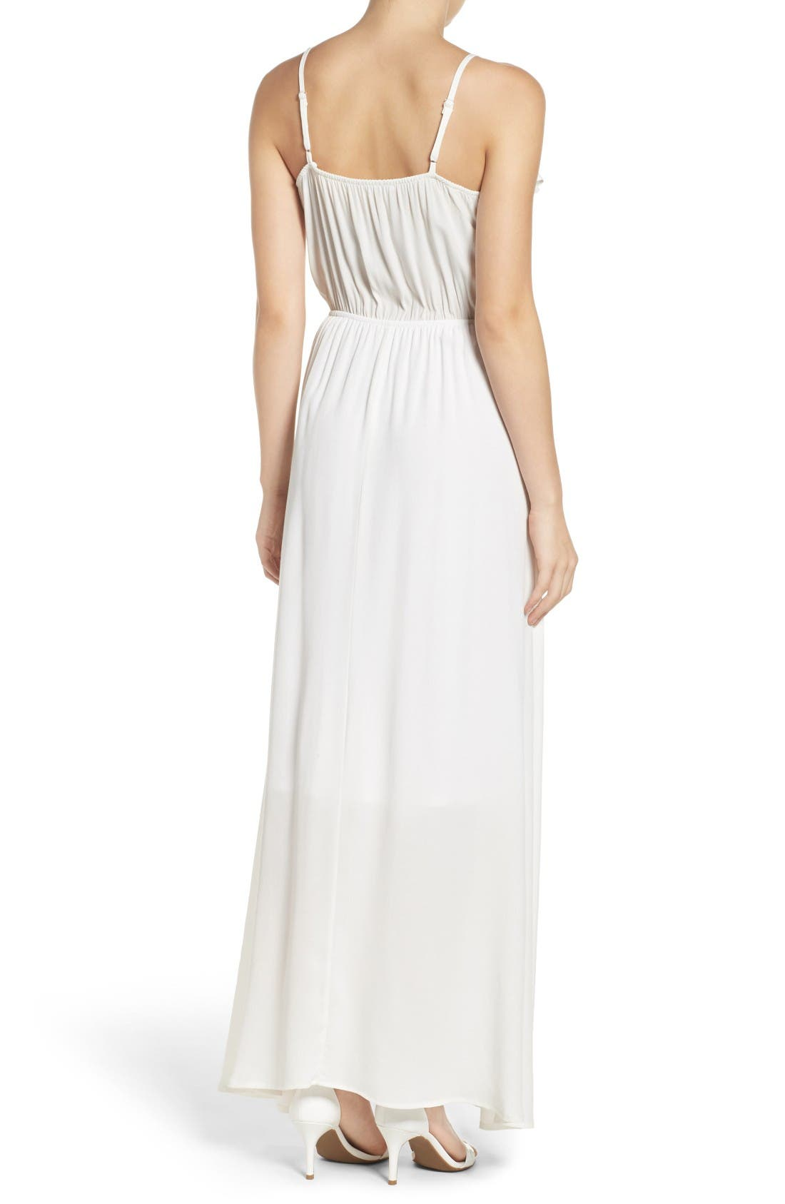 Alternate Image 2  - Fraiche by J Blouson Maxi Dress