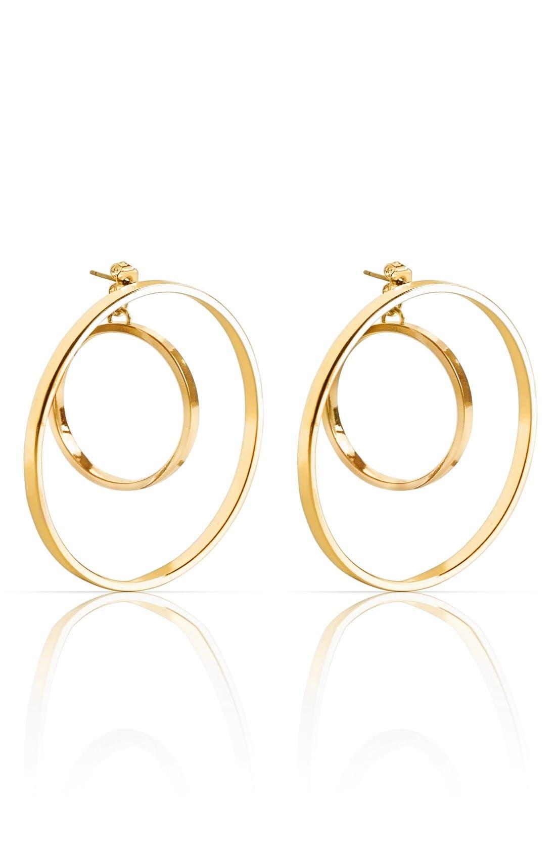 Alternate Image 1 Selected - Jenny Bird Rise Hoop Earrings