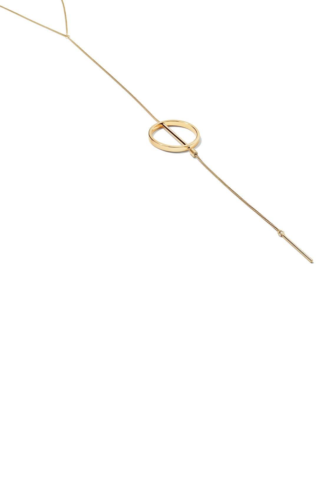 Rhine Lariat Necklace,                             Alternate thumbnail 3, color,                             Gold