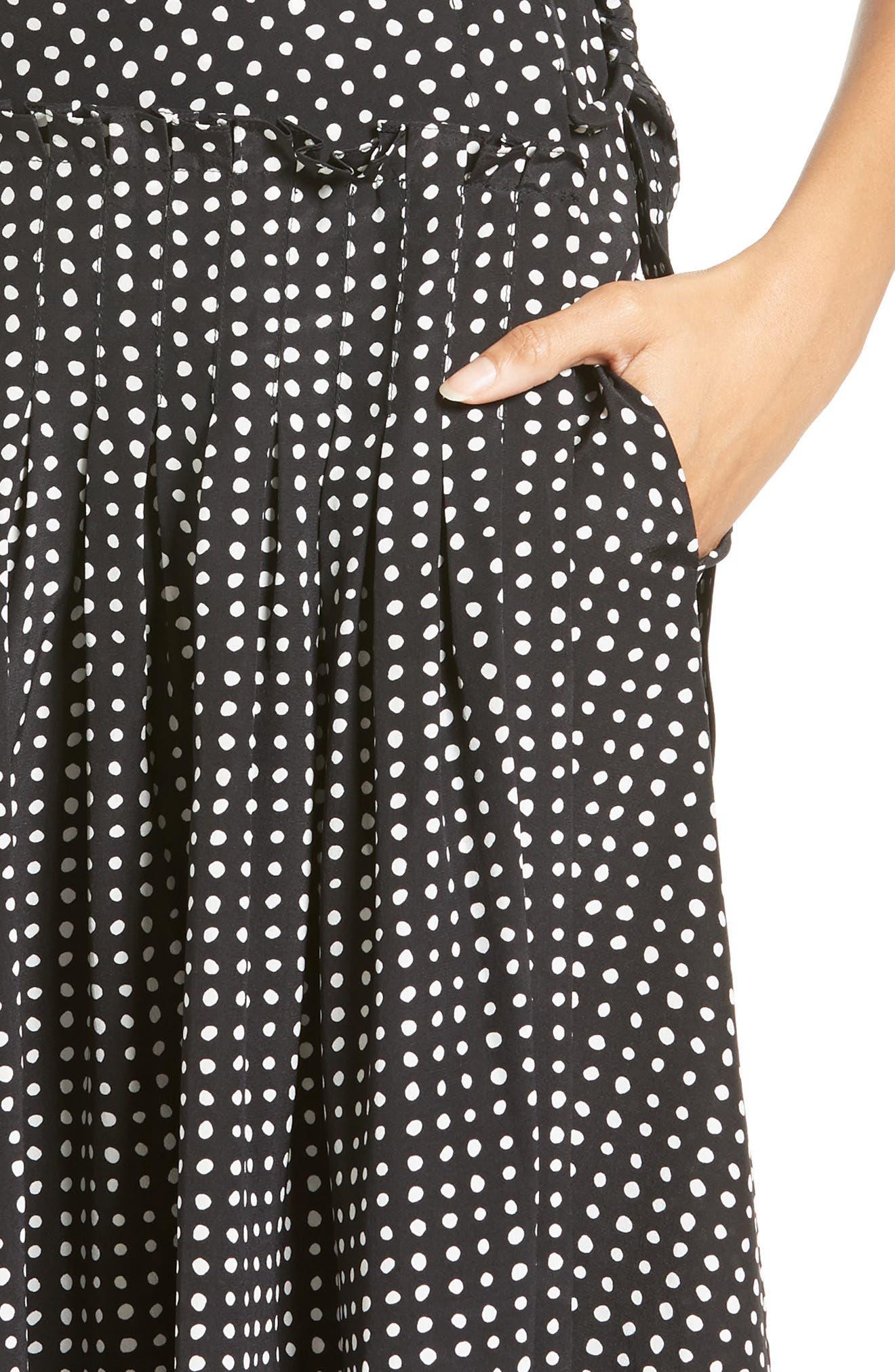 Alternate Image 4  - Diane von Furstenberg Polka Dot Silk D-Ring Wrap Dress