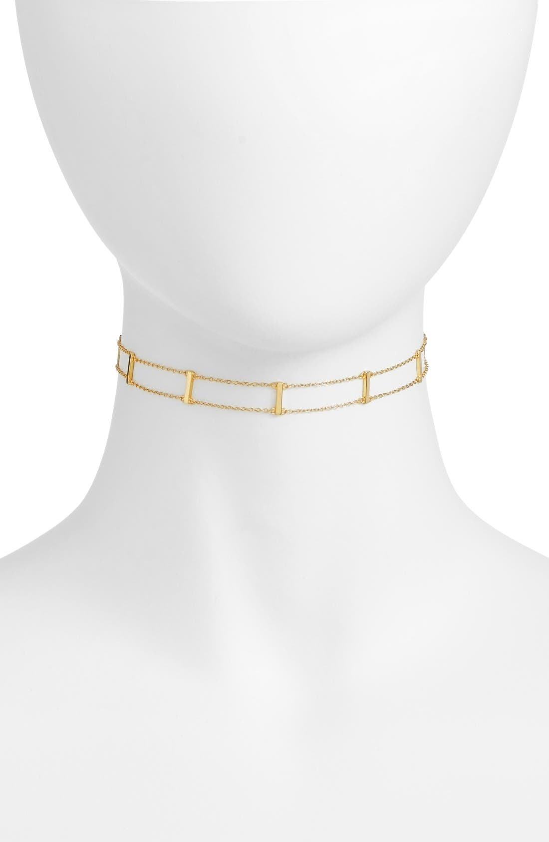 Chain Choker,                             Main thumbnail 1, color,                             Gold