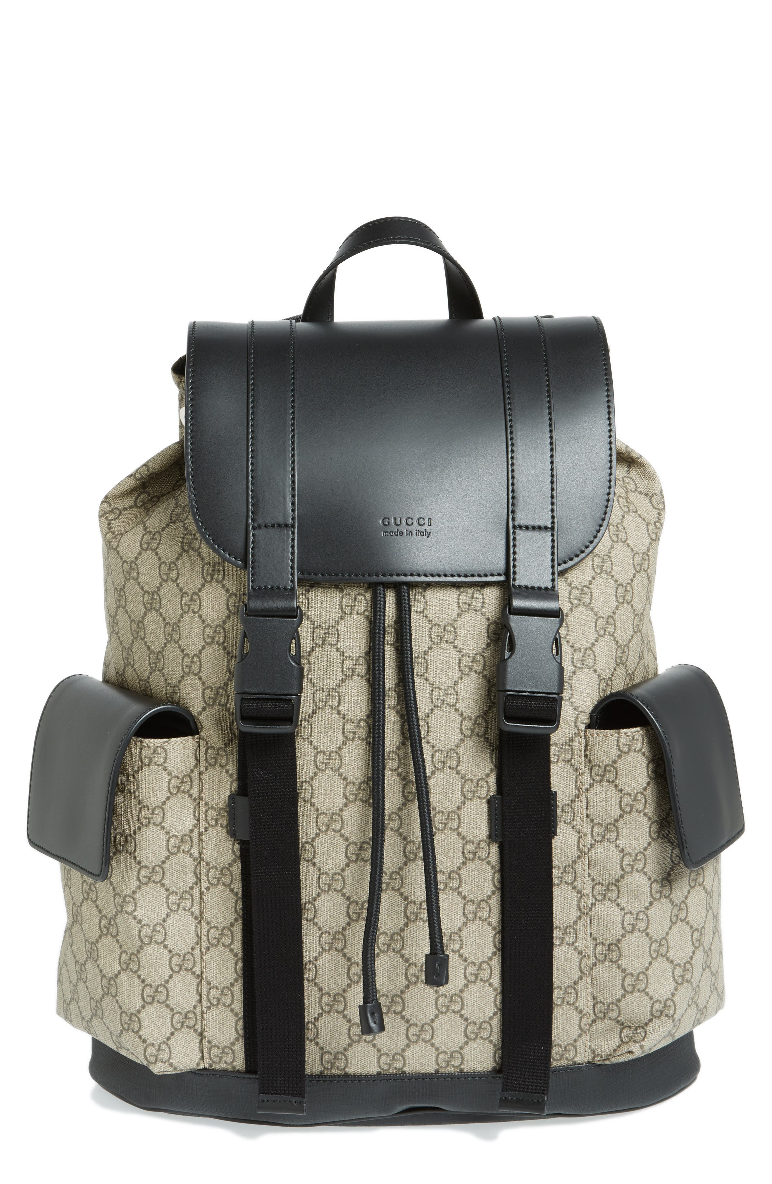 Alternate Image 1 Selected - Gucci Eden Flap Top Canvas Backpack