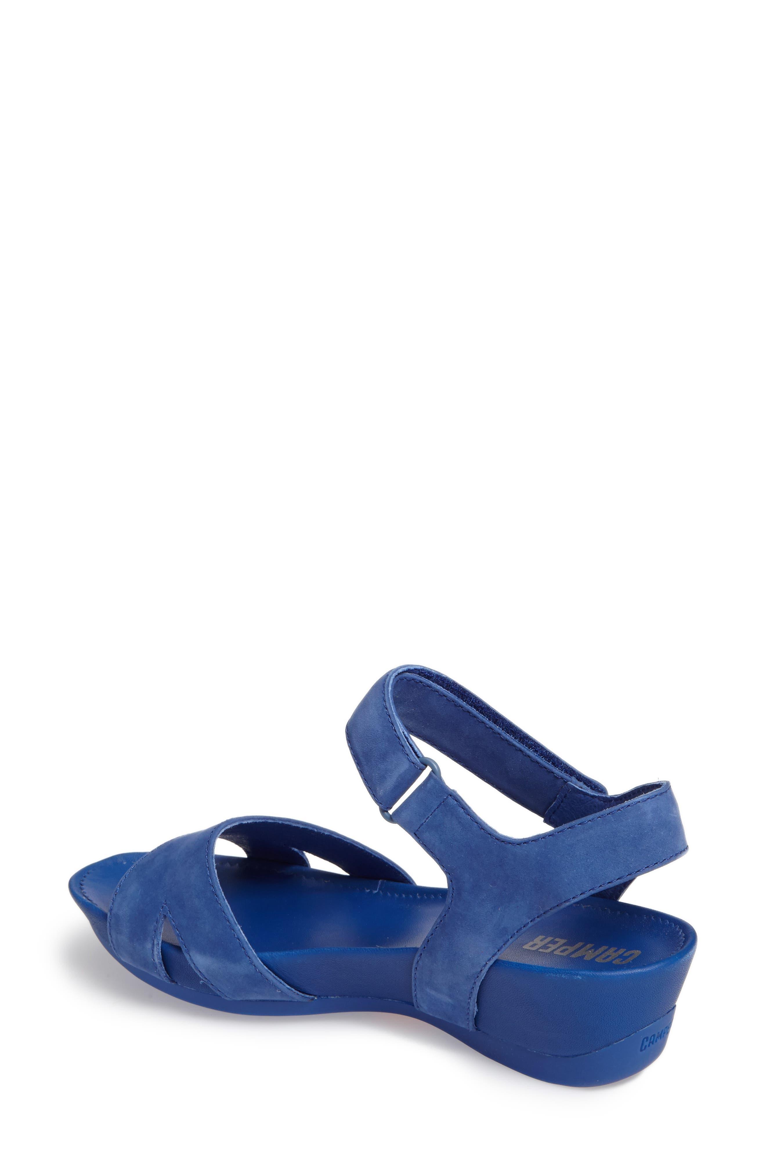 'Micro' Sandal,                             Alternate thumbnail 2, color,                             Blue Leather