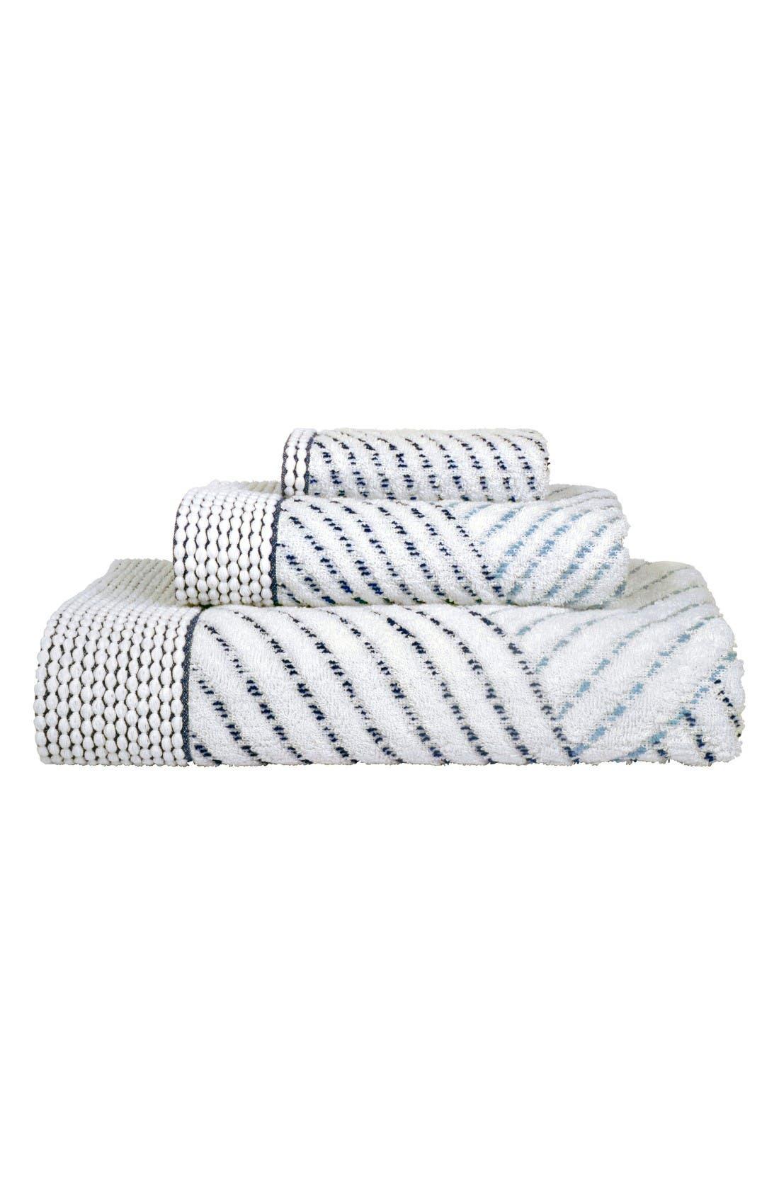 Sazid Hand Towel,                             Alternate thumbnail 2, color,                             Indigo/ Slate